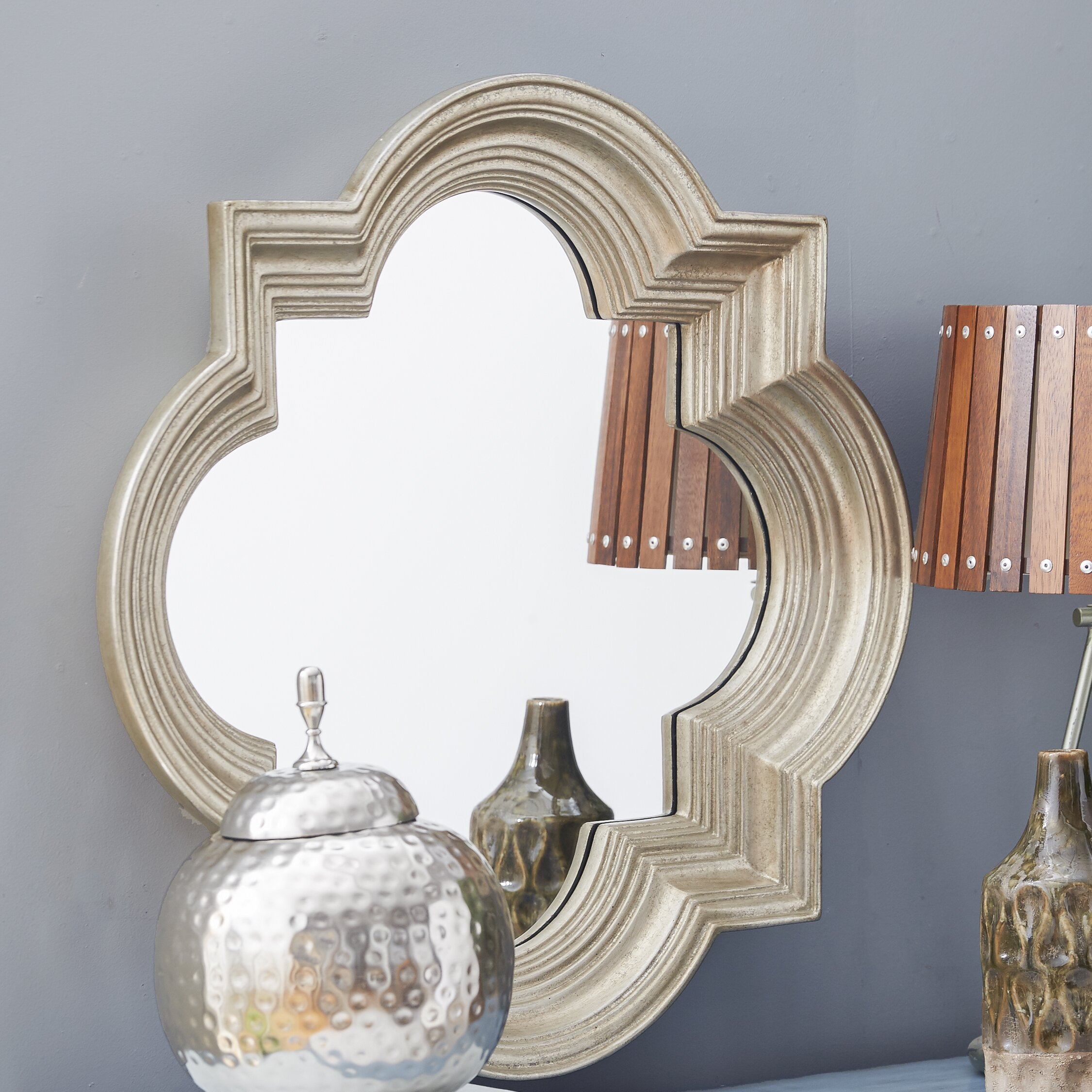 Osp designs gatsby decorative beveled wall mirror for Decorative mirrors