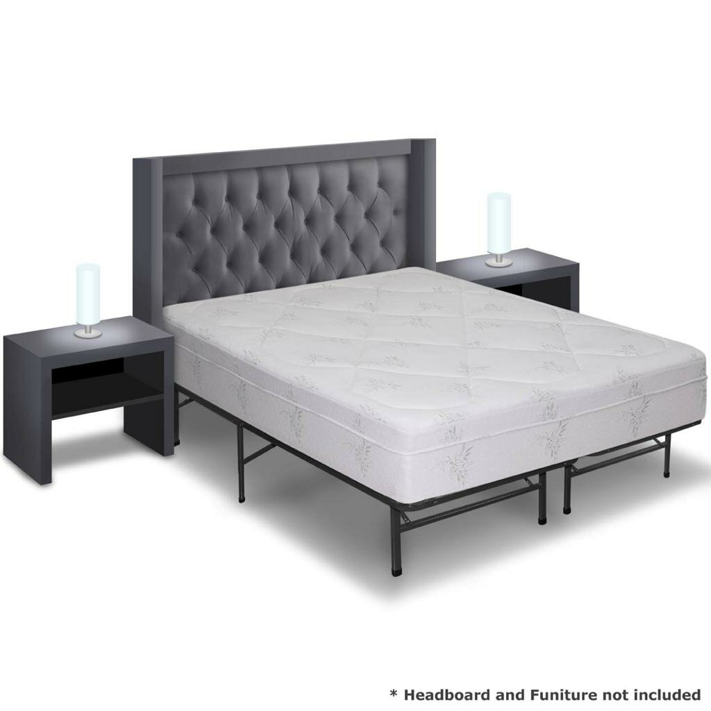 Best price quality 12 memory foam mattress and bed frame set wayfair Memory foam mattress set