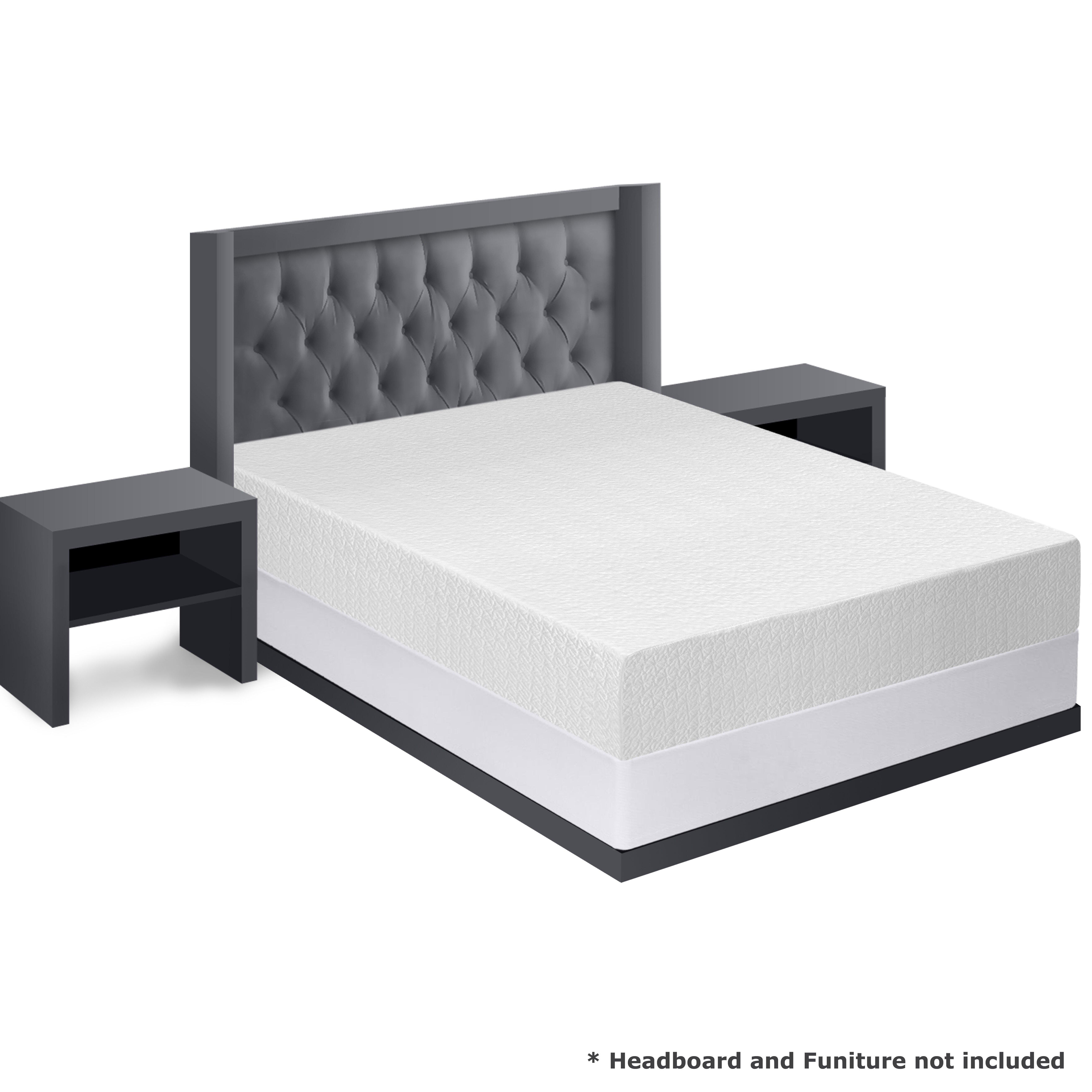 Best Price Quality 10 Memory Foam Mattress And Bi Fold Steel Box Spring Set Wayfair