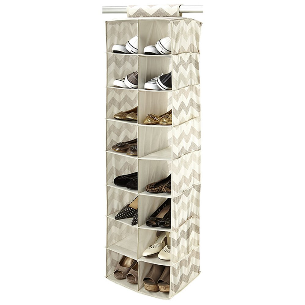 Macbeth Collection Textured Chevron 16 Compartment Hanging