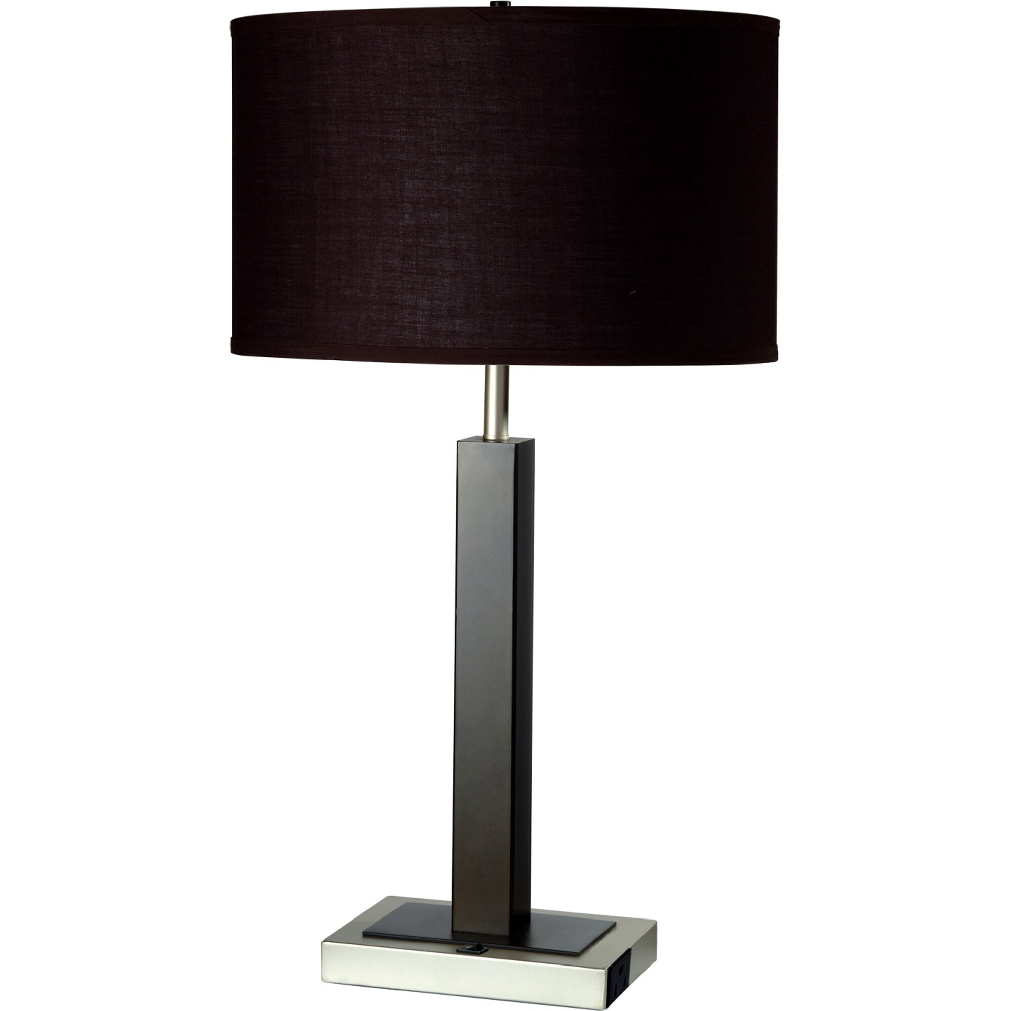 ORE Furniture Convenient Outlet 26 H Table Lamp With Drum