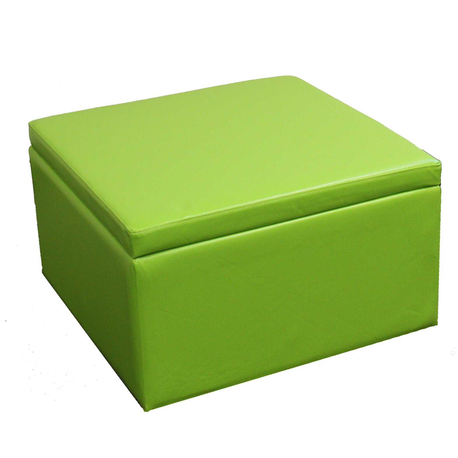 Ore furniture square storage ottoman with seating for Storage ottoman seat