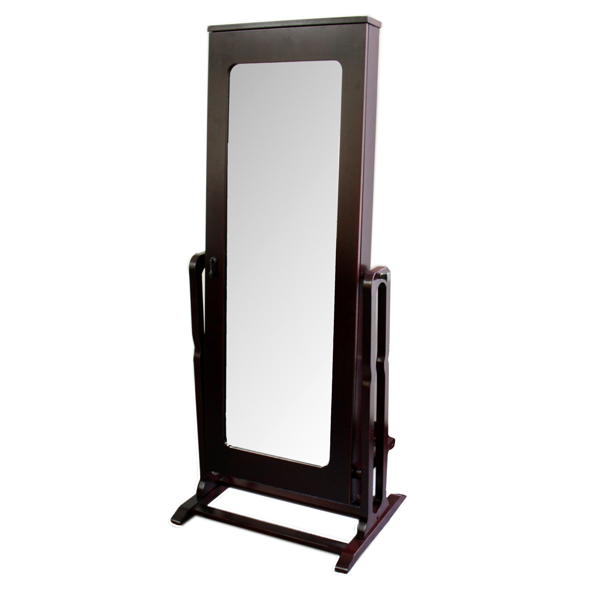 Ore furniture standing mirror with storage reviews wayfair for White long standing mirror