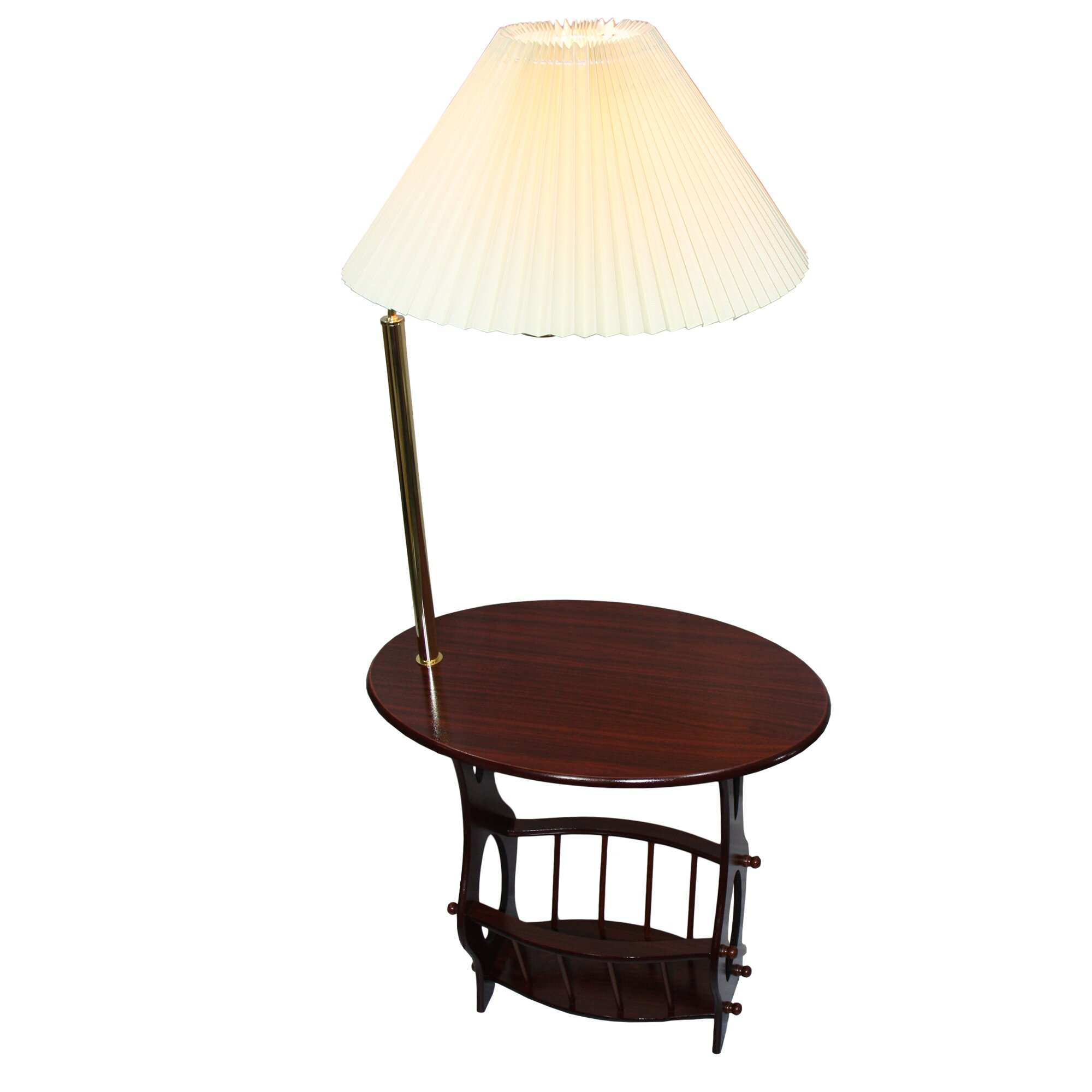 ore furniture floor lamp end table magazine rack combination reviews. Black Bedroom Furniture Sets. Home Design Ideas