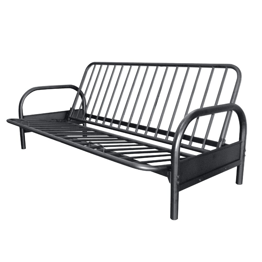 Symple Stuff Metal Arm Full Futon Frame Amp Reviews Wayfair