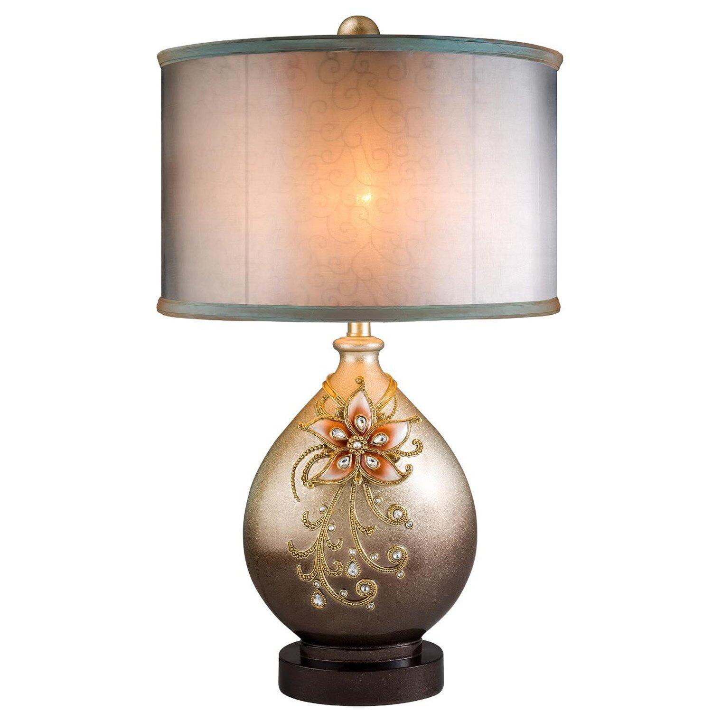 ore furniture sapphire rose 30 table lamp reviews wayfair. Black Bedroom Furniture Sets. Home Design Ideas