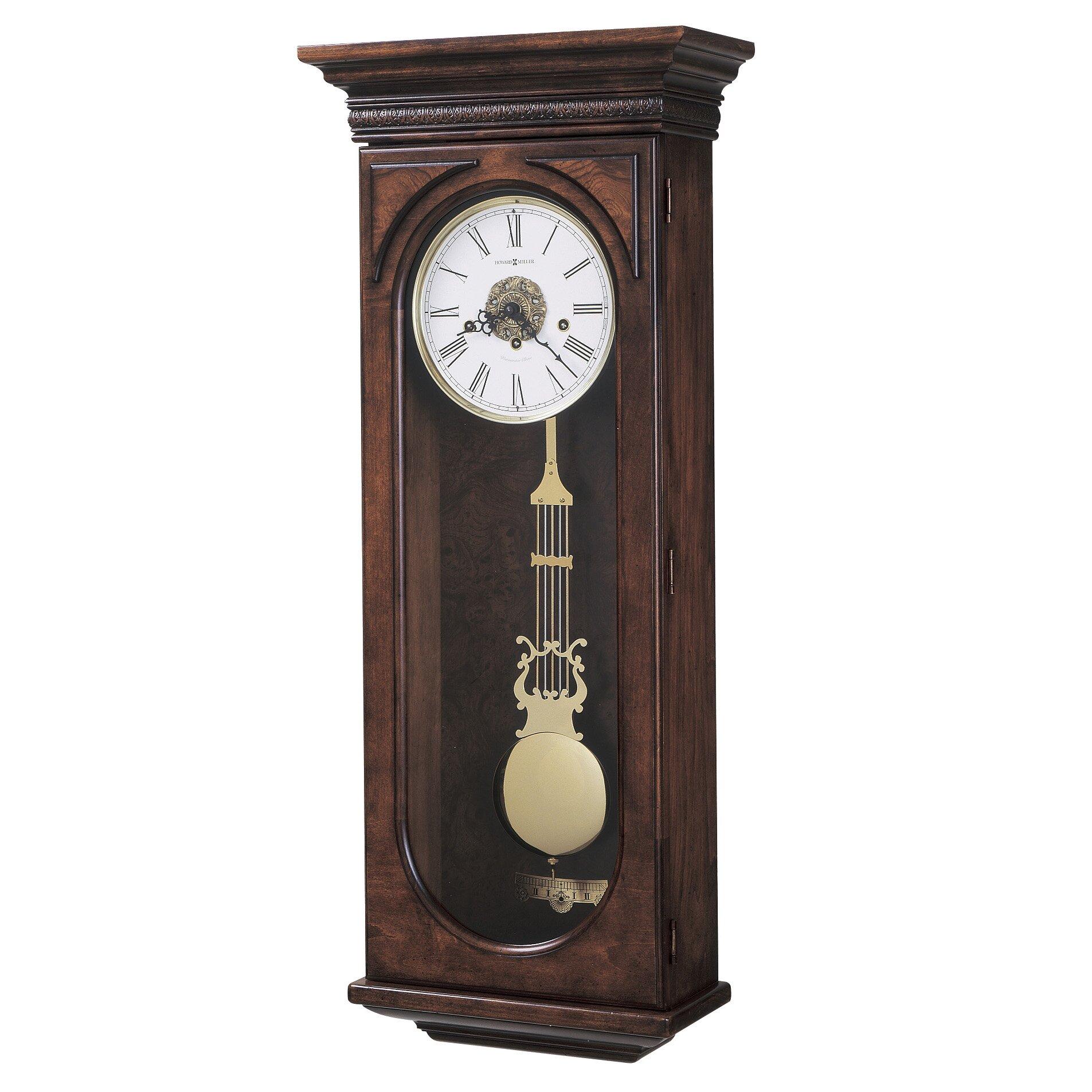 Howard Miller Chiming Key Wound Earnest Wall Clock Wayfair