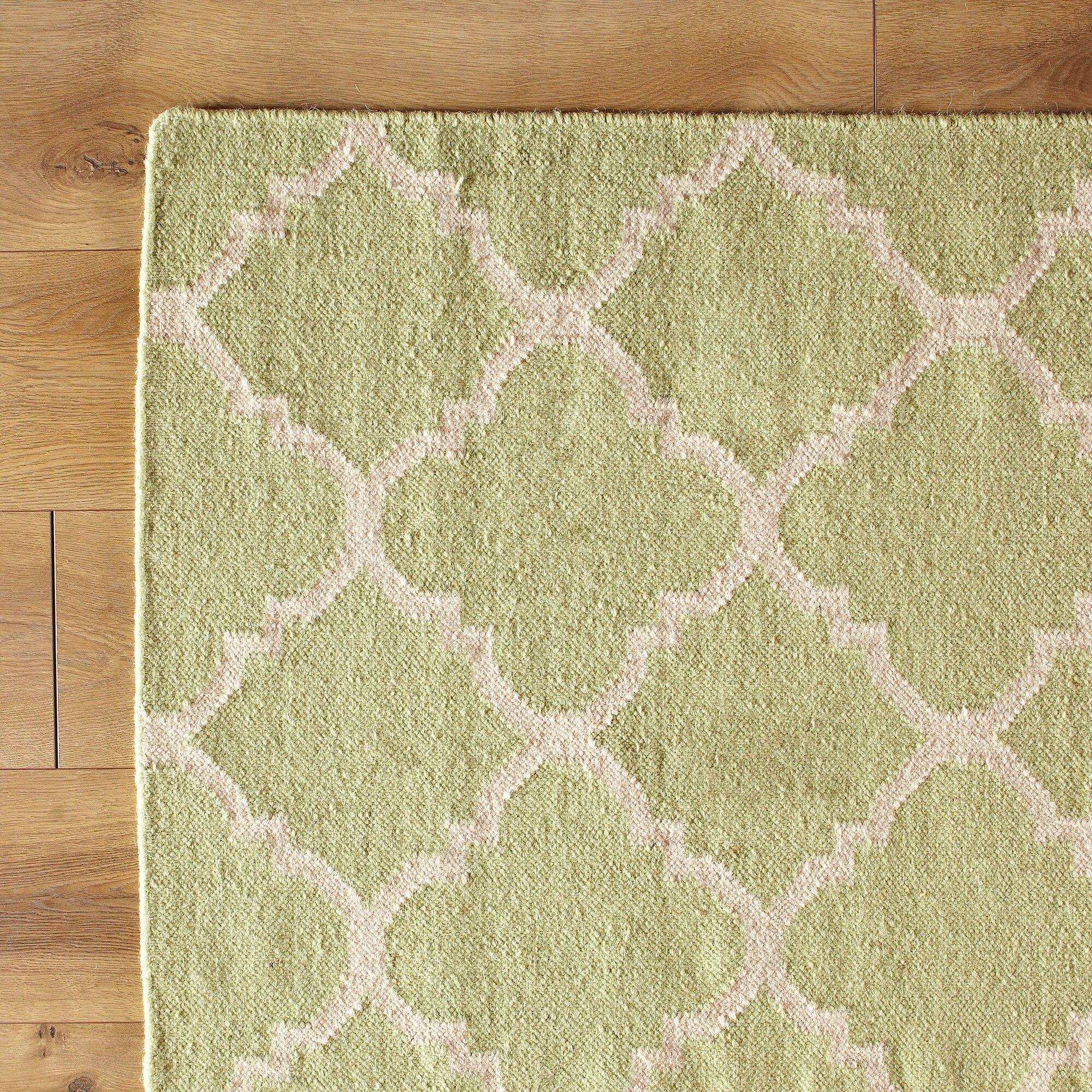 Checked Area Rugs: Birch Lane Kids Green/Ivory Checked Area Rug & Reviews