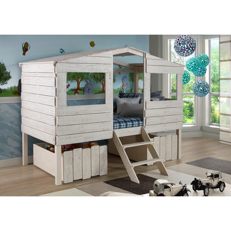 Birch lane kids cabin lofted bed with storage reviews - Wayfair childrens bedroom furniture ...