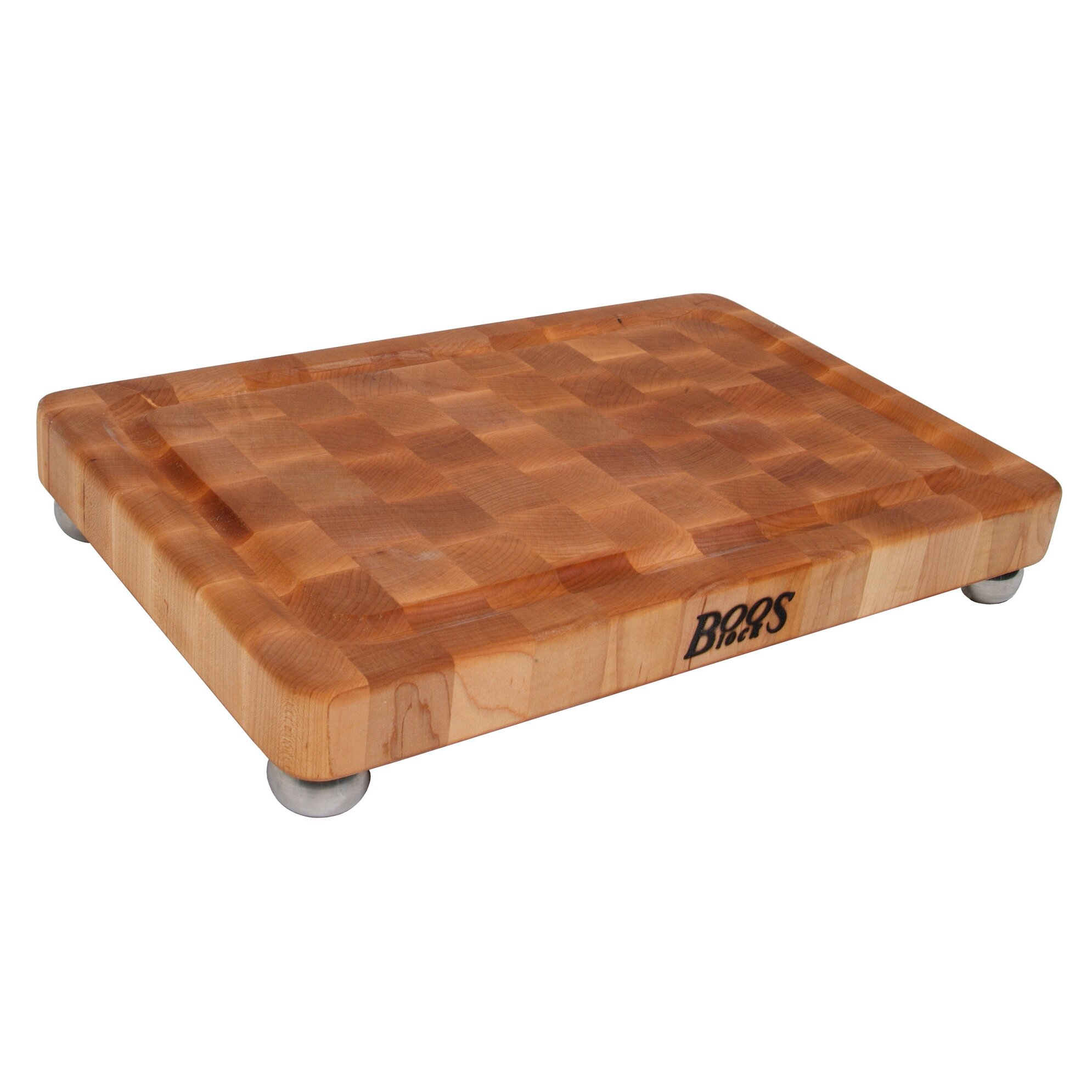 John Boos Boosblock Maple Cutting Board With Stainless