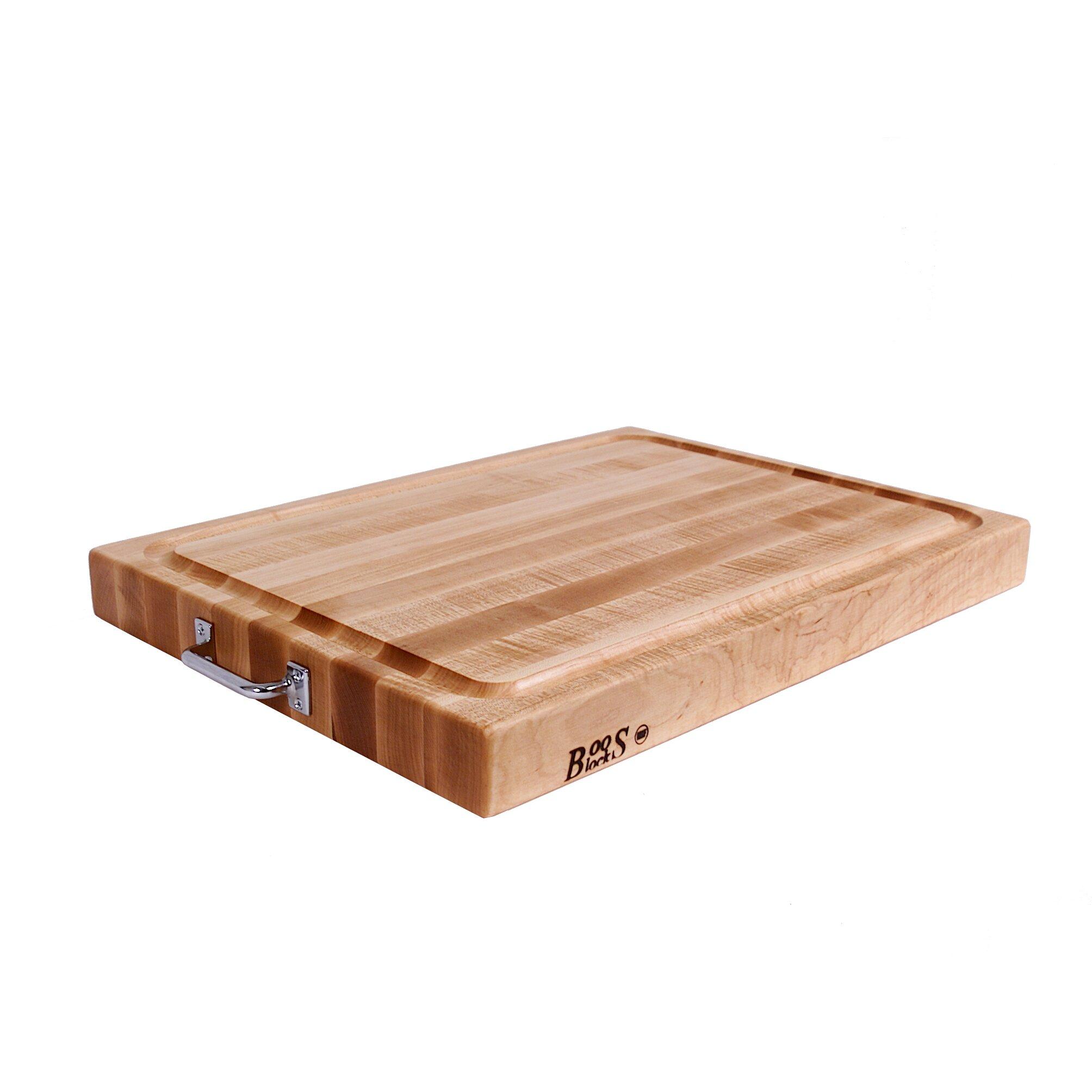 John boos boosblock reversible maple cutting board with
