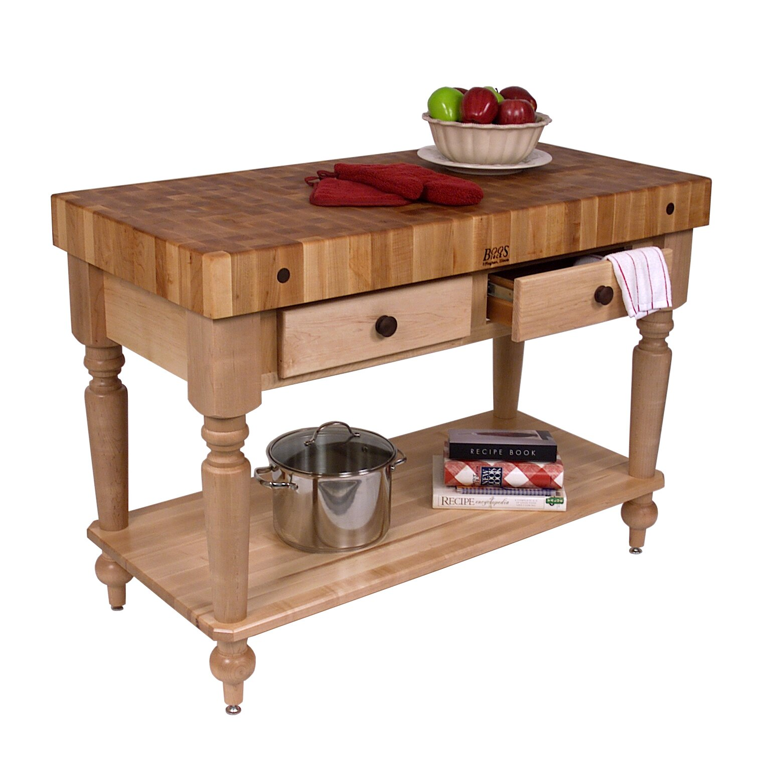 John Boos American Heritage Prep Table With Butcher Block