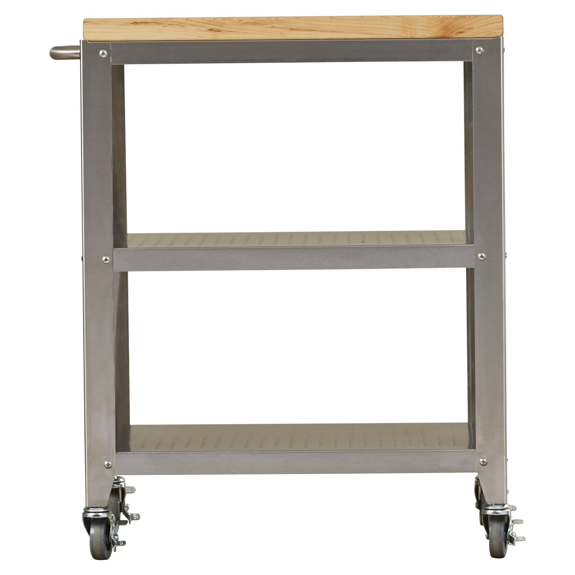 john boos cucina americana kitchen cart with butcher block