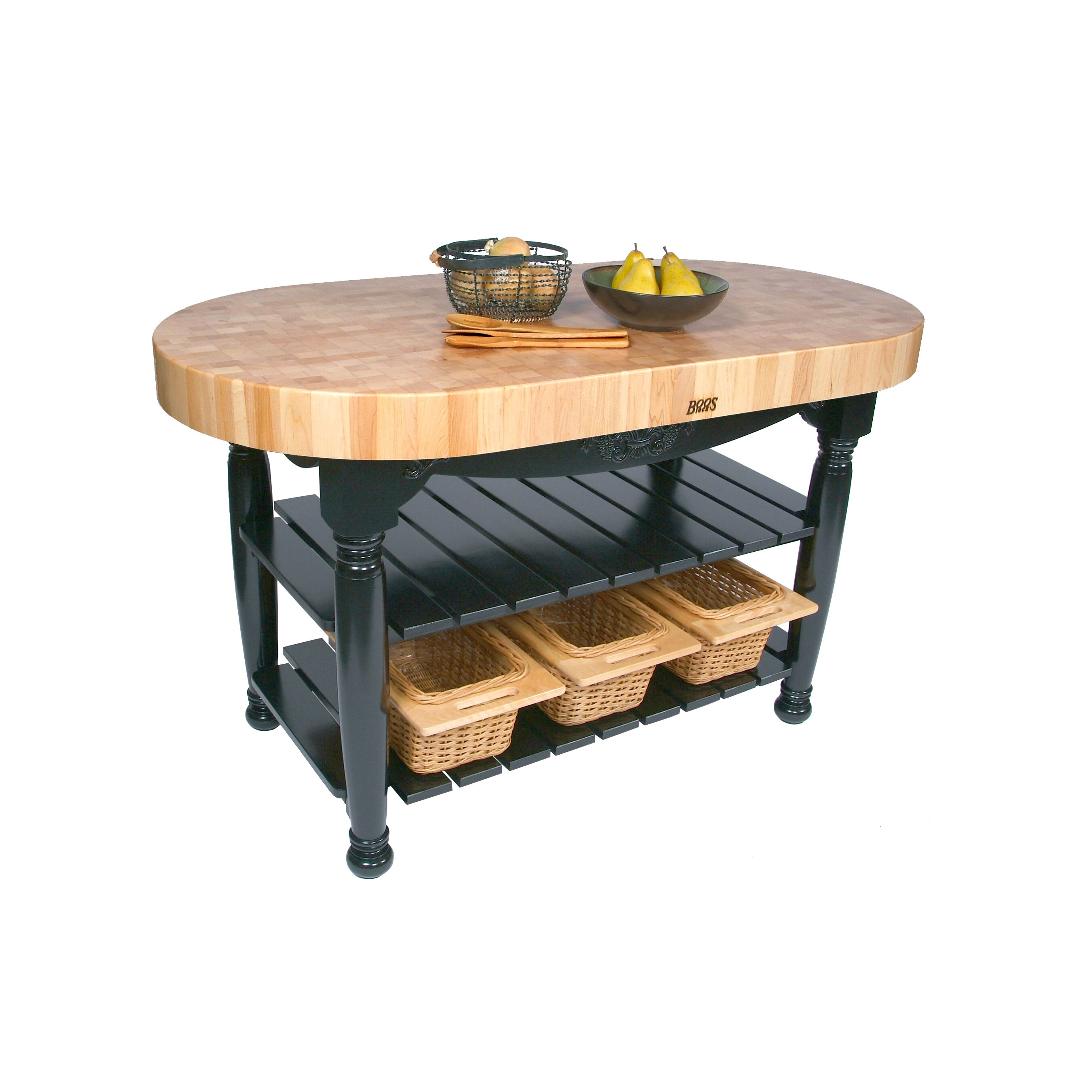 Buy Butcher Block Table Top: John Boos American Heritage Prep Table With Butcher Block