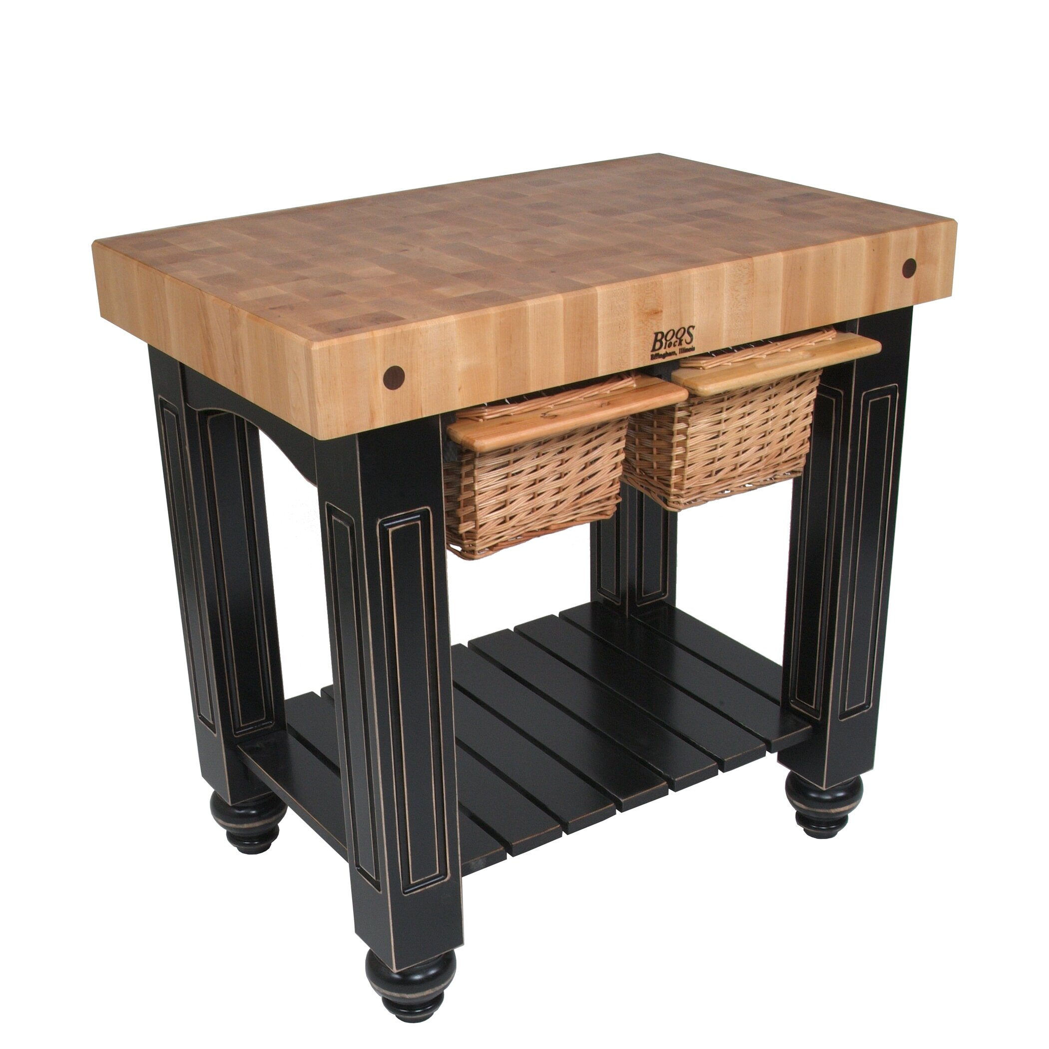 Butcher Block Red Kitchen Island : John Boos American Heritage Prep Table with Butcher Block Top & Reviews Wayfair