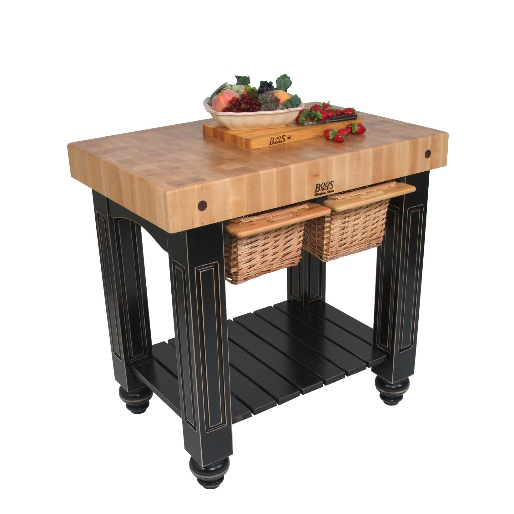 Kitchen Island Butcher Block Tops: John Boos American Heritage Prep Table With Butcher Block