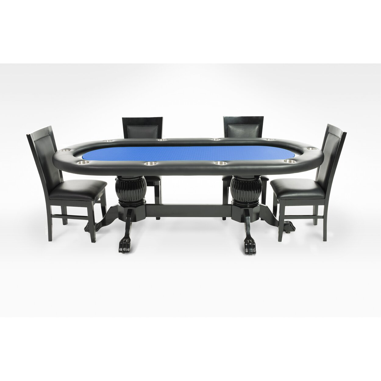 BBO Poker Elite 8 Piece Poker Dining Table Set With Dining