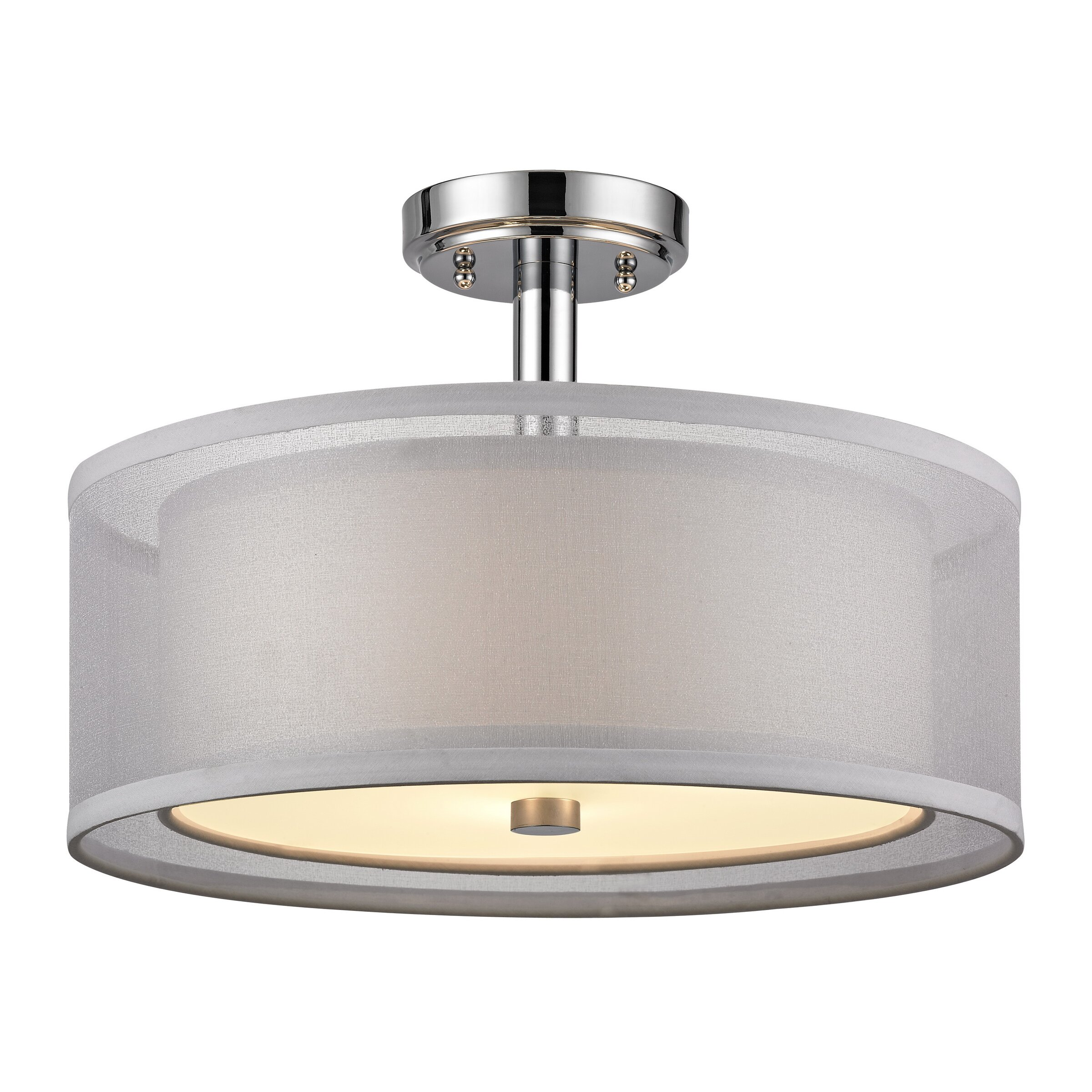 Dolan Designs Recesso Double Organza 3 Light Semi Flush Mount Reviews