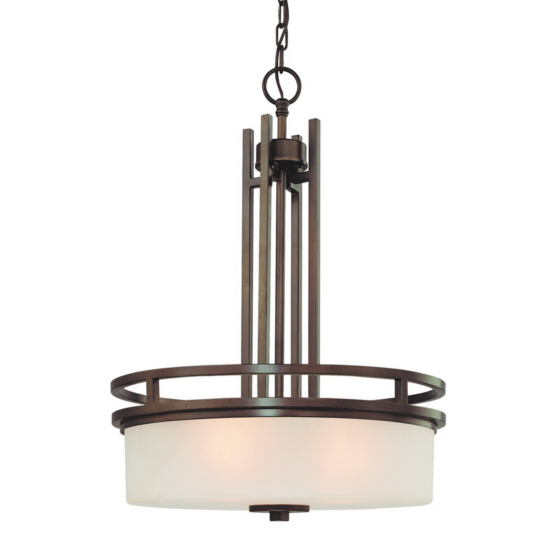 Dolan Designs Multnomah 3 Light Drum Pendant & Reviews