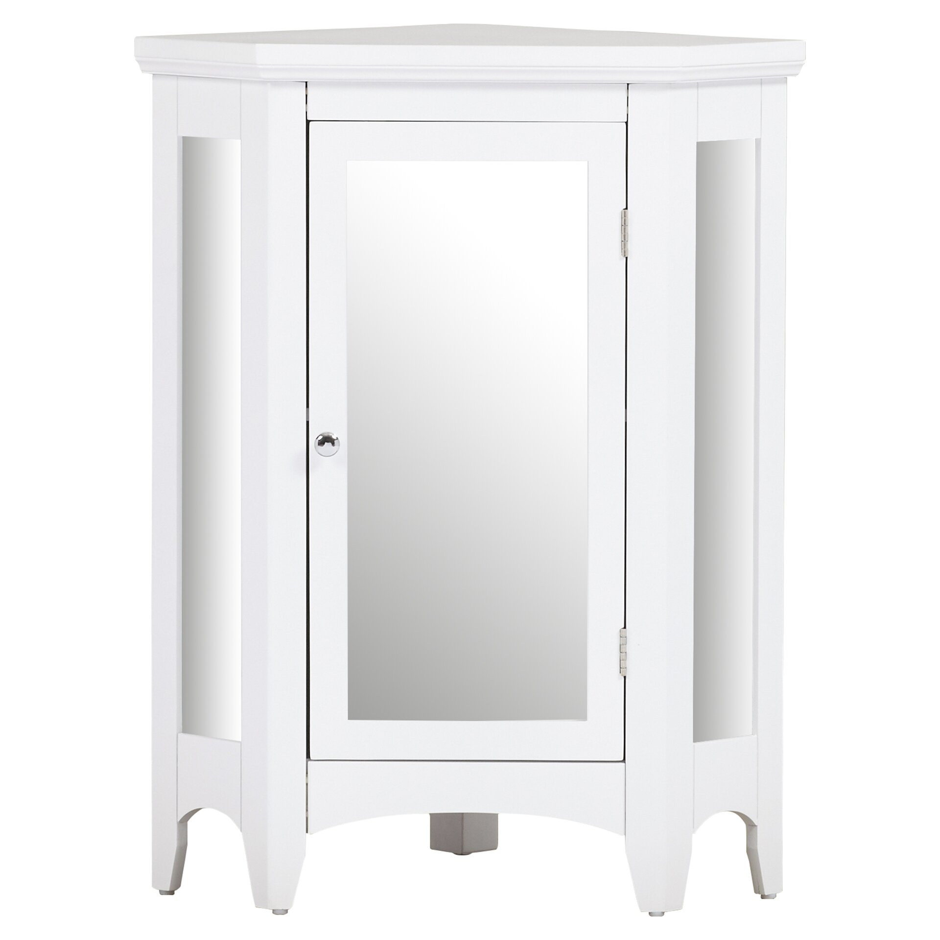 Free standing mirrored bathroom cabinet