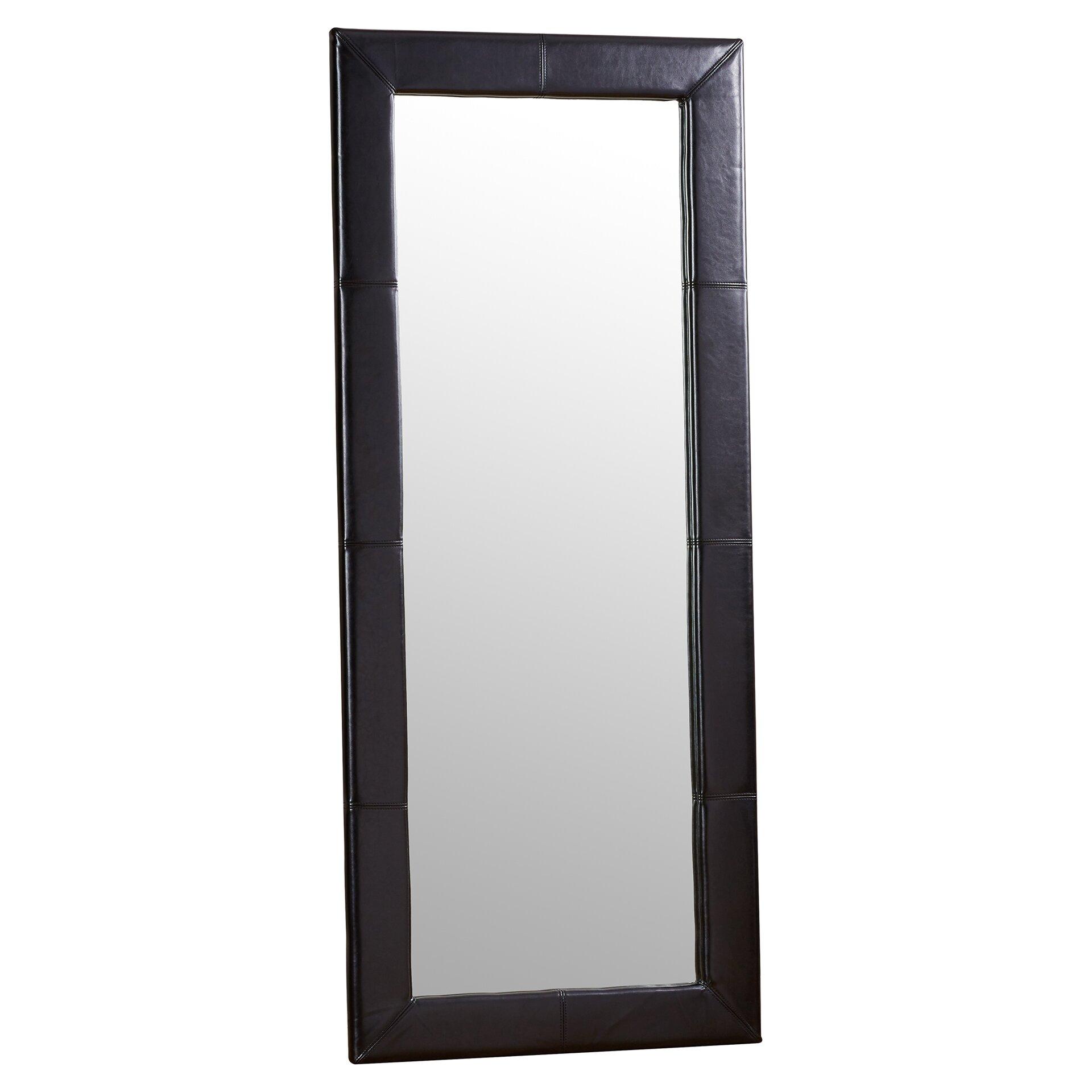 Wade logan floor mirror reviews for Glass floor mirror