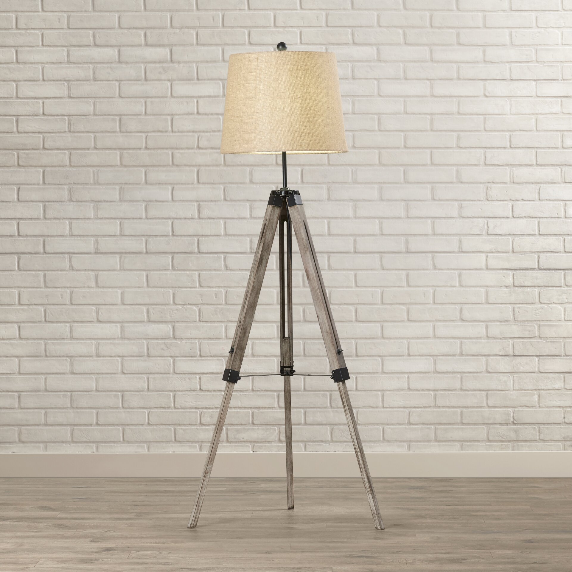 "Brayden Studio Seaborn 63"" Tripod Floor Lamp & Reviews"