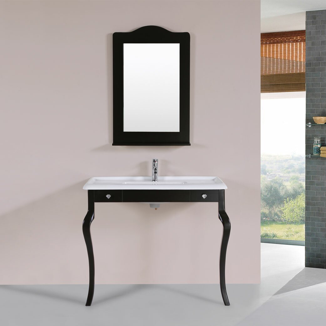 Pacificcollection marina 40 single traditional bathroom for Traditional mirror