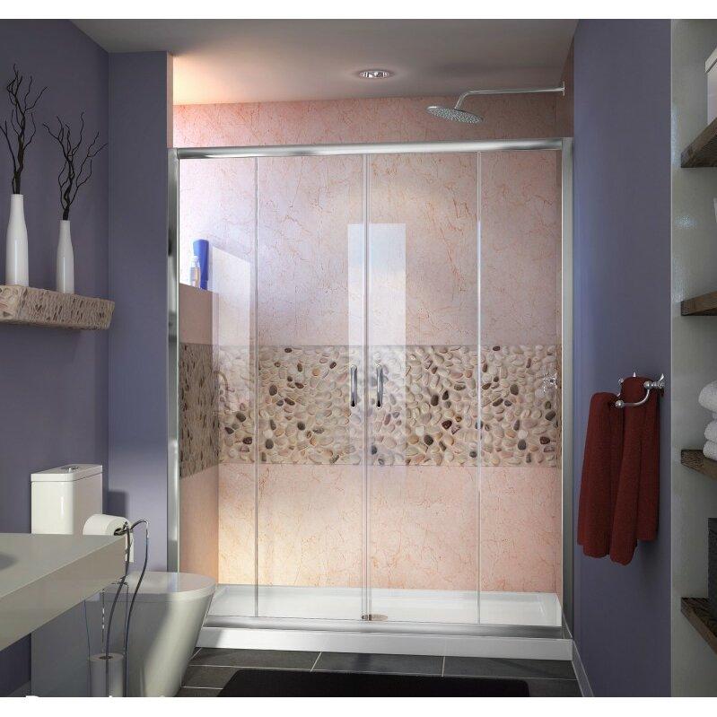 Dreamline Visions 60 Quot X 72 Quot Double Sliding Frameless Shower Door Amp Reviews Wayfair