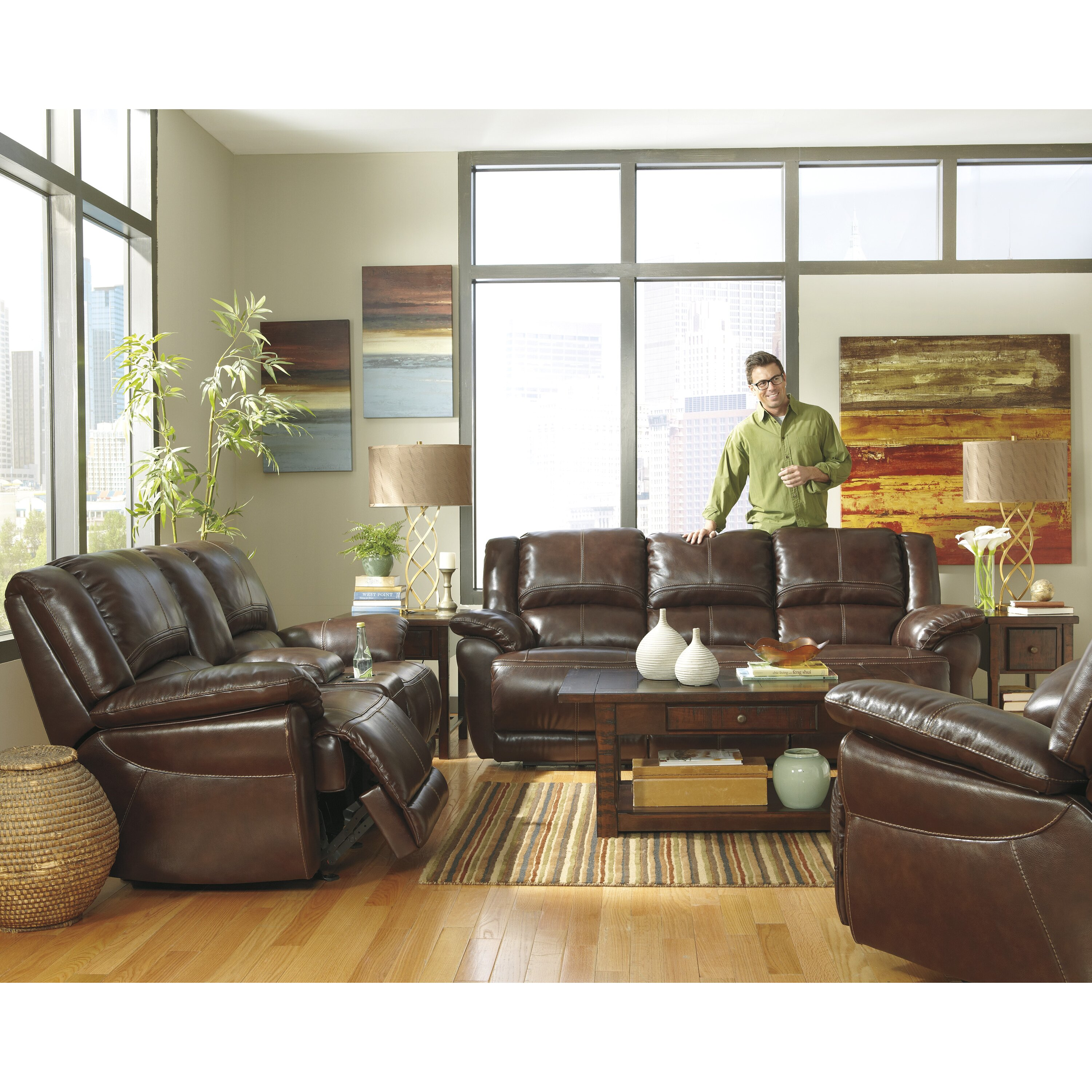 Ashley Signature Collection: Signature Design By Ashley Mahoney Living Room Collection