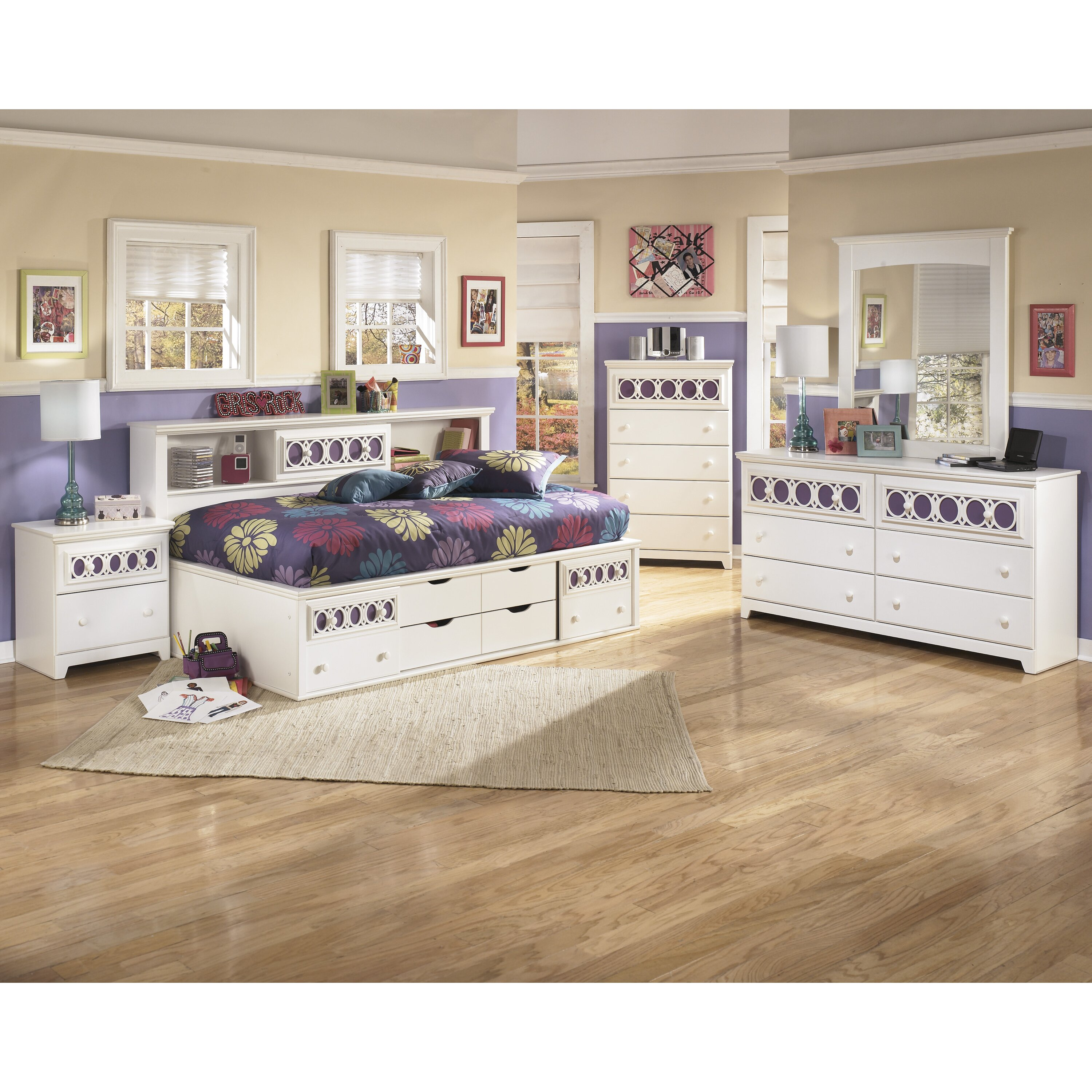 Signature design by ashley zayley panel customizable - Ashley furniture kids bedroom sets ...