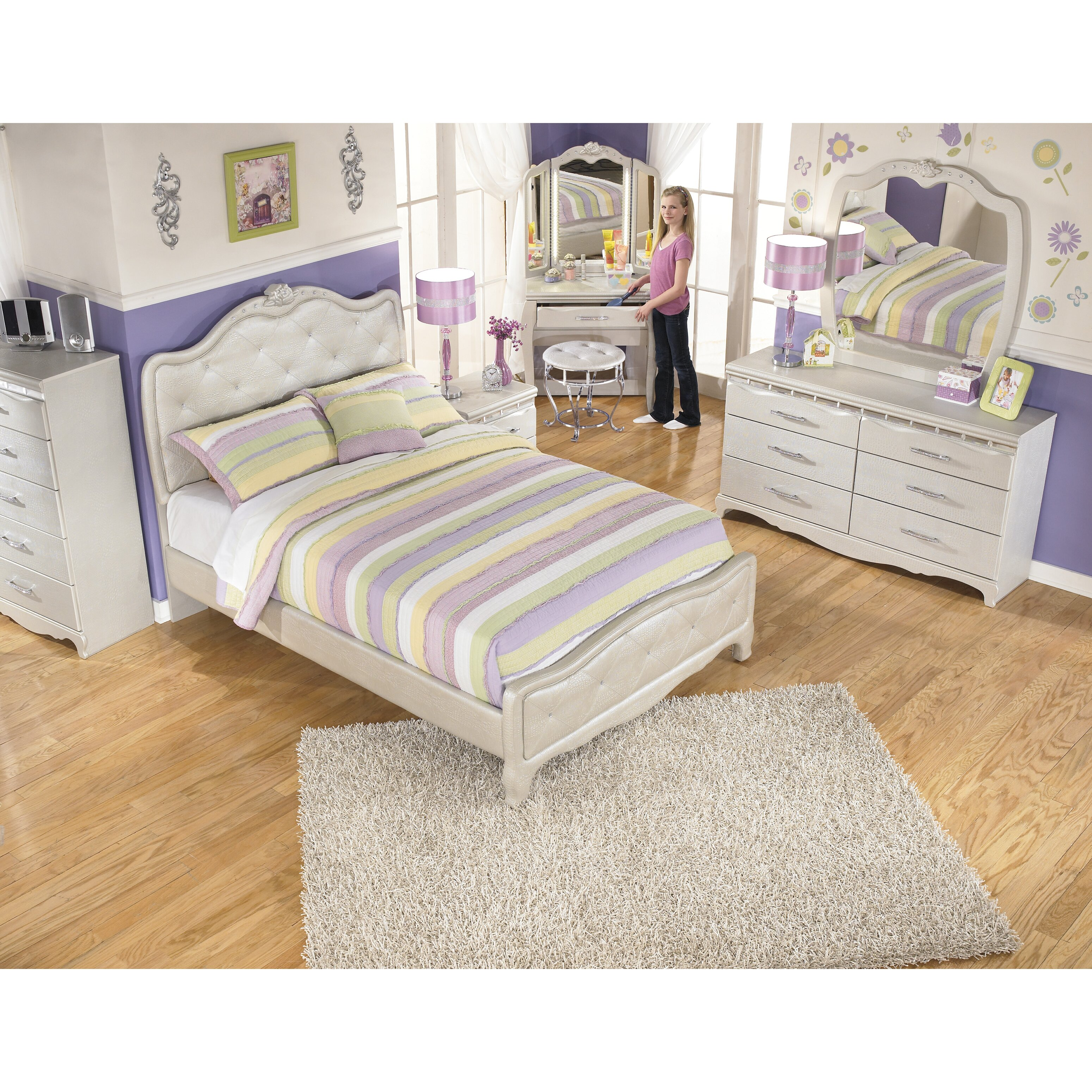 Signature Design By Ashley Zarollina Panel Bed Reviews Wayfair