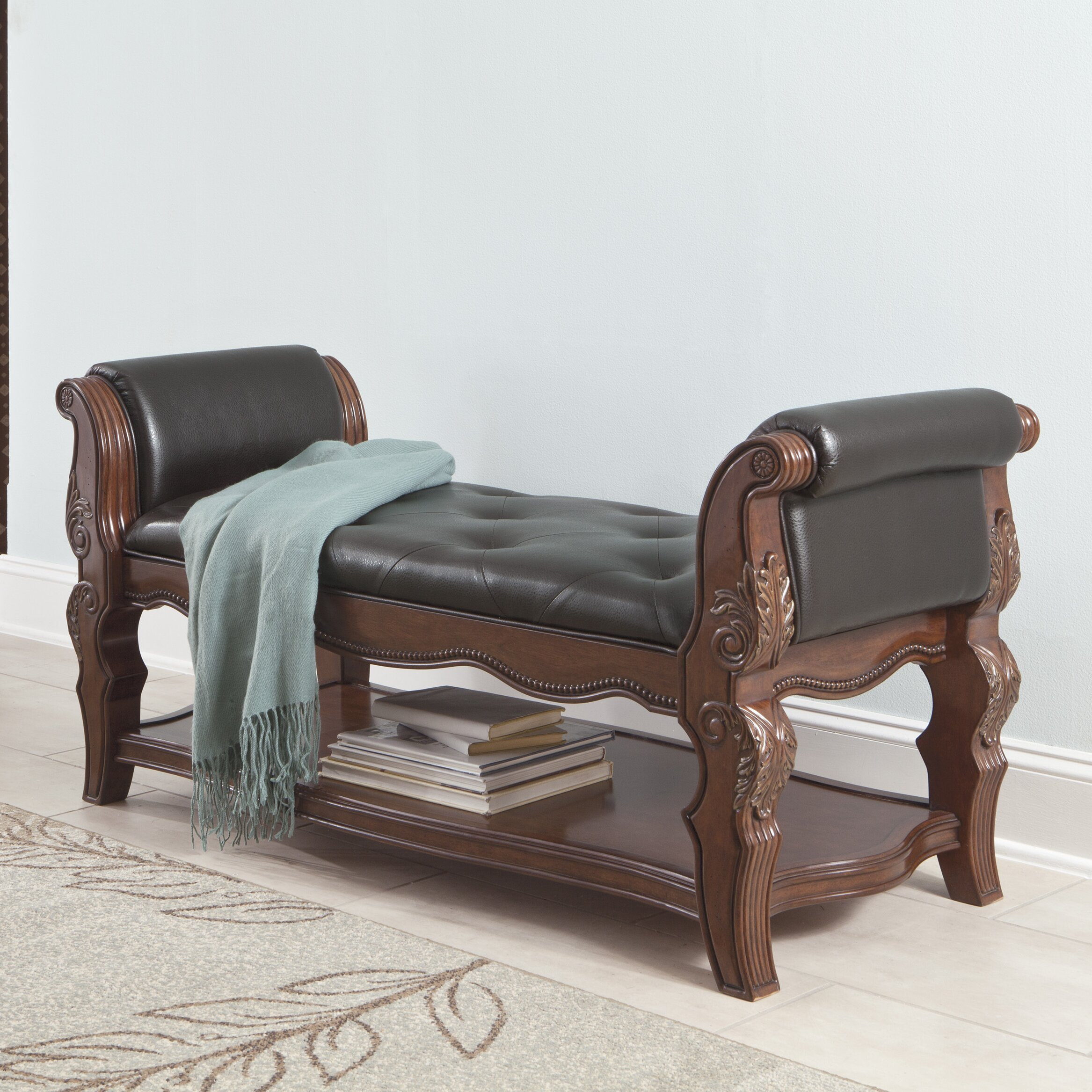 Signature design by ashley ledelle upholstered bedroom - Ashley furniture bedroom benches ...
