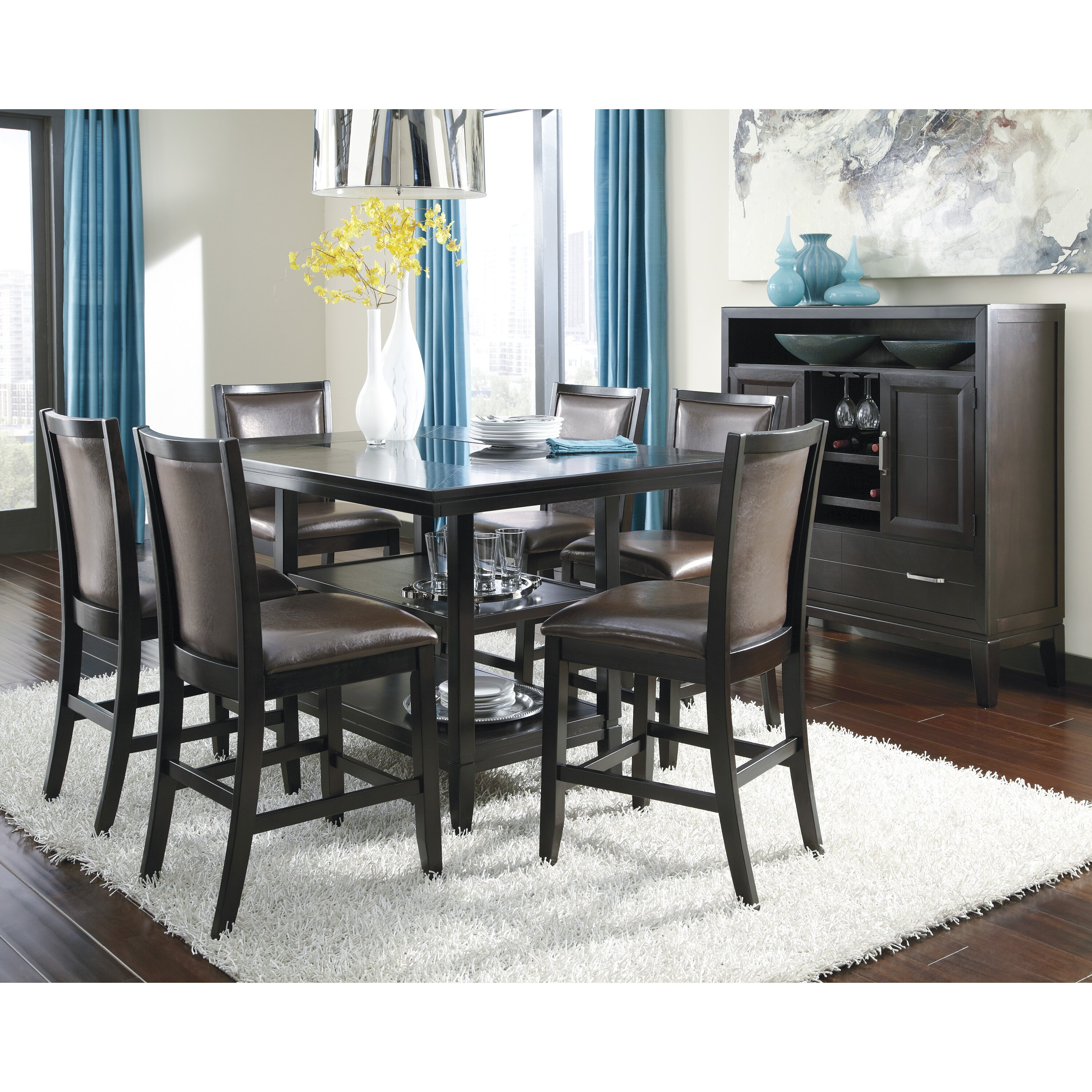 Signature Design by Ashley Trishelle Counter Height Dining  : Trishelle Counter Height Dining Table D550 32 from www.wayfair.com size 3000 x 3000 jpeg 1777kB