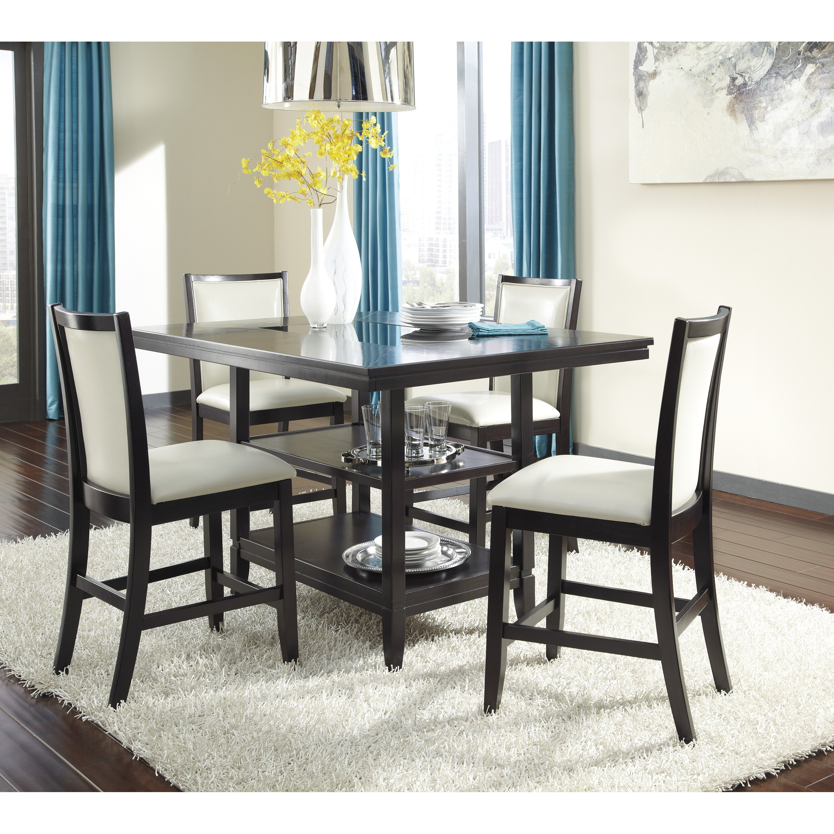 Signature Design by Ashley Trishelle Counter Height Dining  : Trishelle Counter Height Dining Table D550 32 from www.wayfair.com size 2667 x 2667 jpeg 1544kB