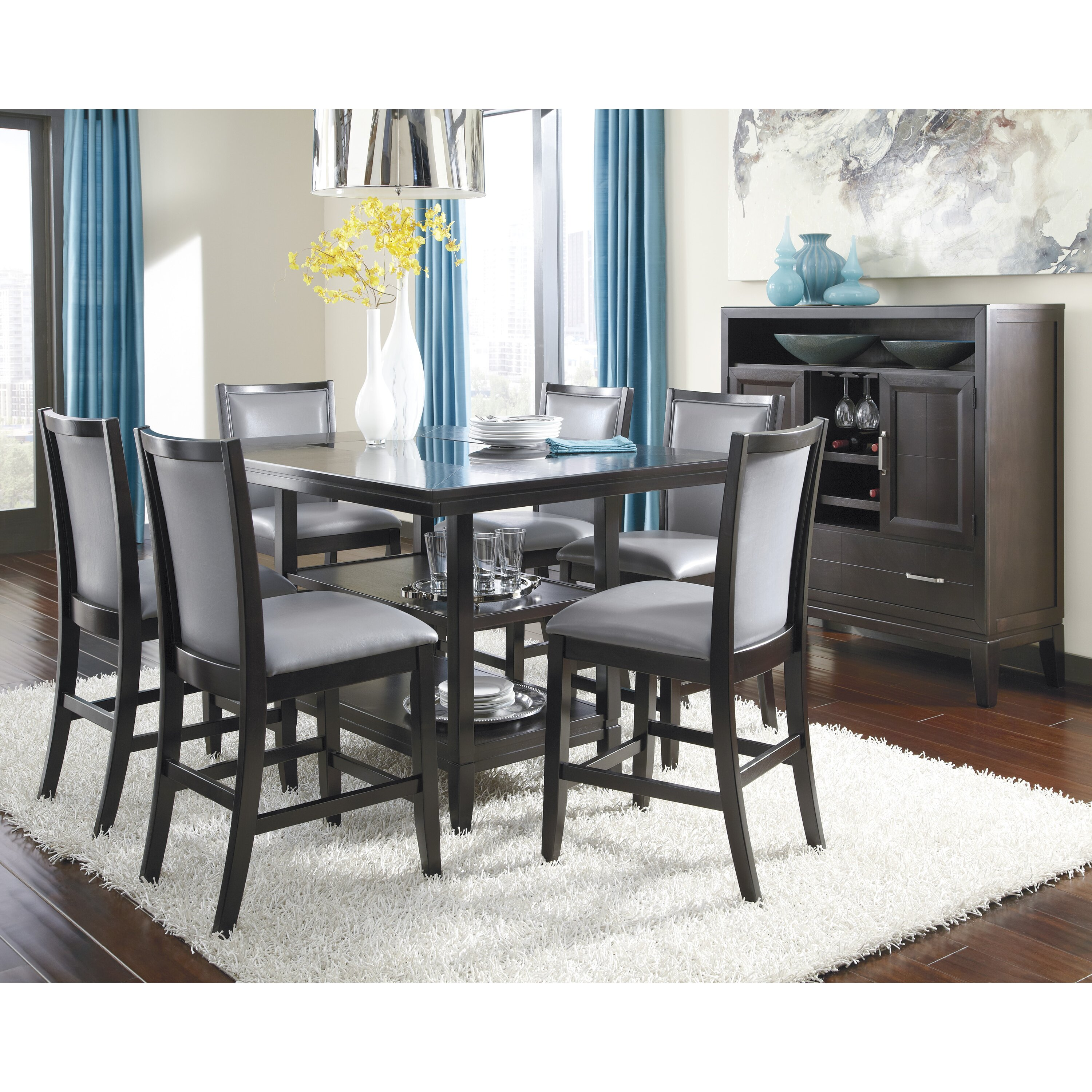 Signature Design by Ashley Trishelle Counter Height Dining  : Trishelle Counter Height Dining Table D550 32 from www.wayfair.com size 3000 x 3000 jpeg 1719kB