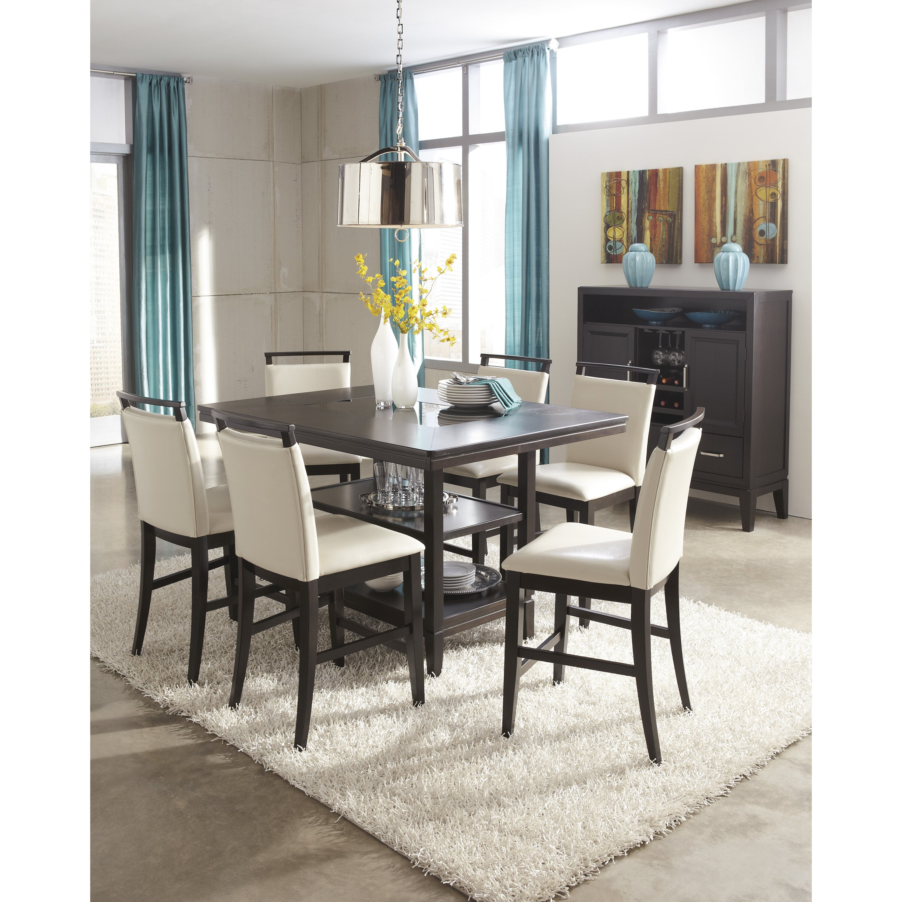 Tall Dining Table: Signature Design By Ashley Trishelle Counter Height Dining
