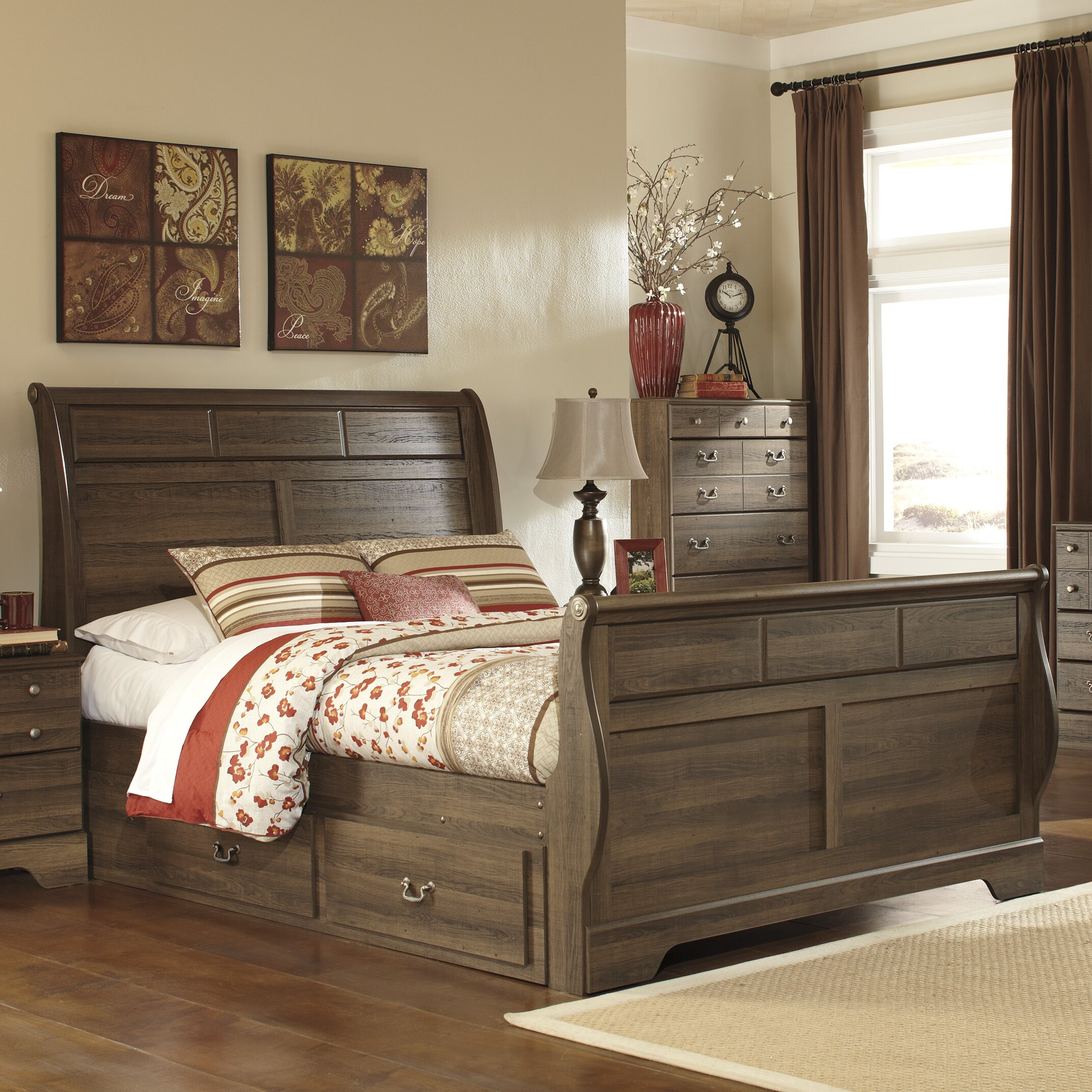 Signature design by ashley allymore sleigh customizable - Ashley bedroom furniture reviews ...