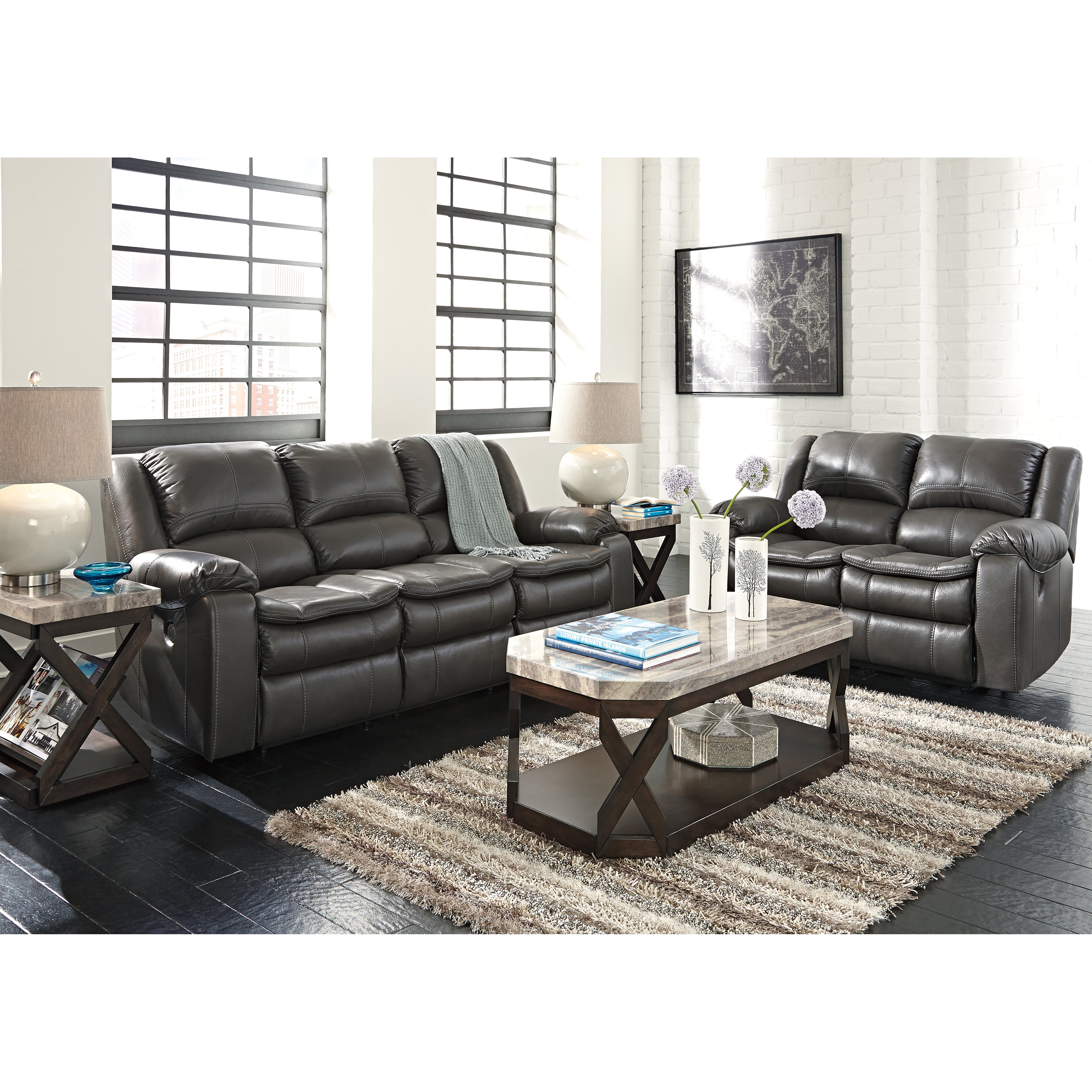 Ashley Furniture Fayetteville: Signature Design By Ashley Long Knight Reclining Sofa