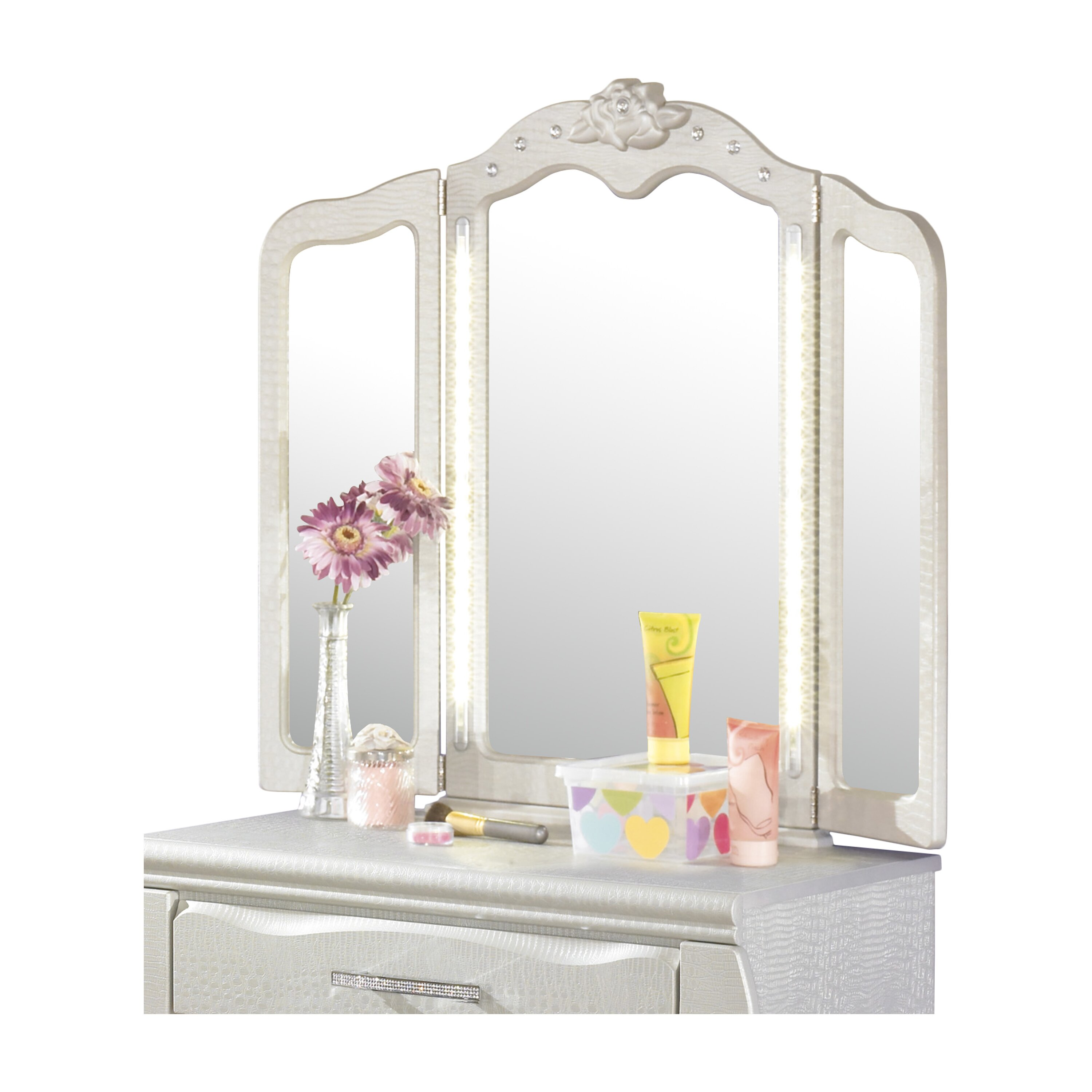 Signature Design By Ashley Zarollina Vanity Set With Mirror Reviews Wayfair