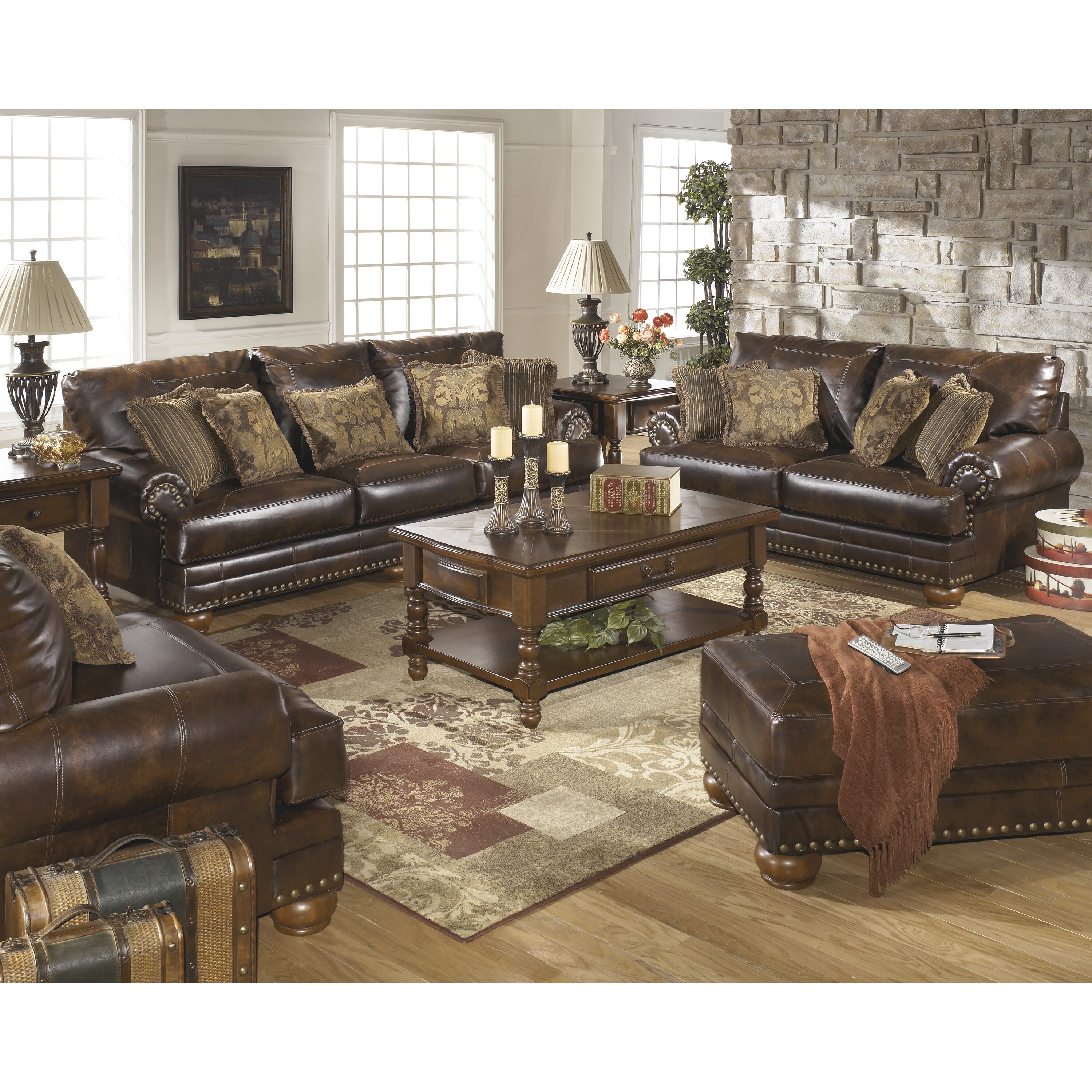 Signature Design By Ashley Leighton Leather Sofa Reviews