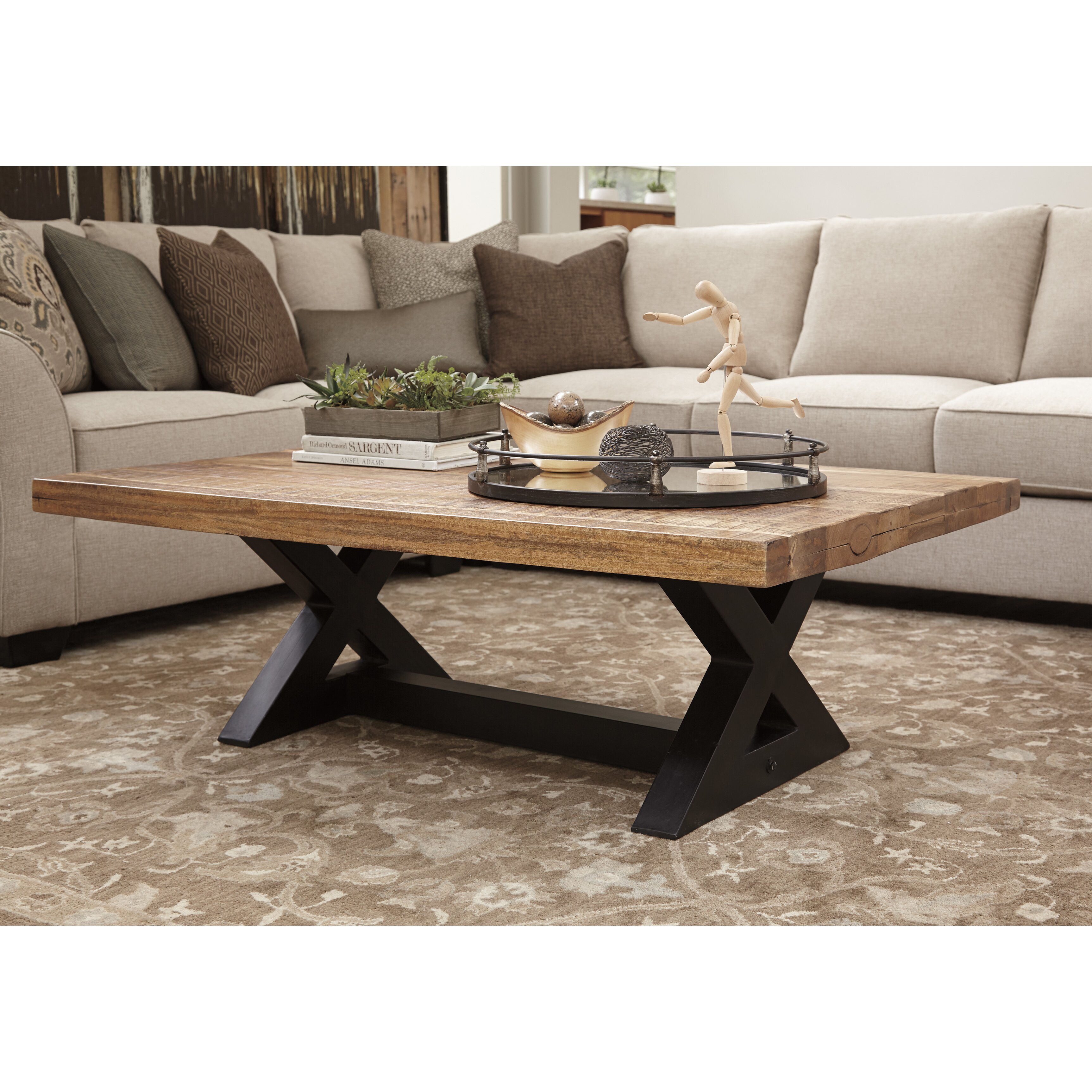 Ashley Furniture Distressed Coffee Table: Signature Design By Ashley Wesling Coffee Table & Reviews