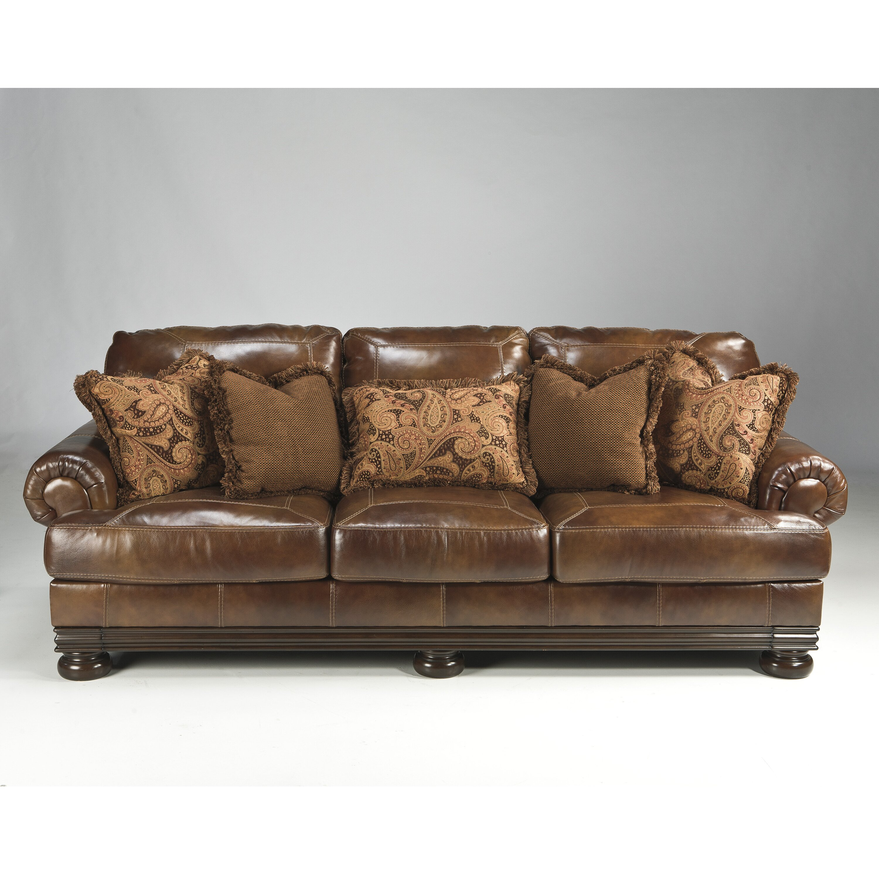 Signature Design By Ashley Hutcherson Leather Sofa