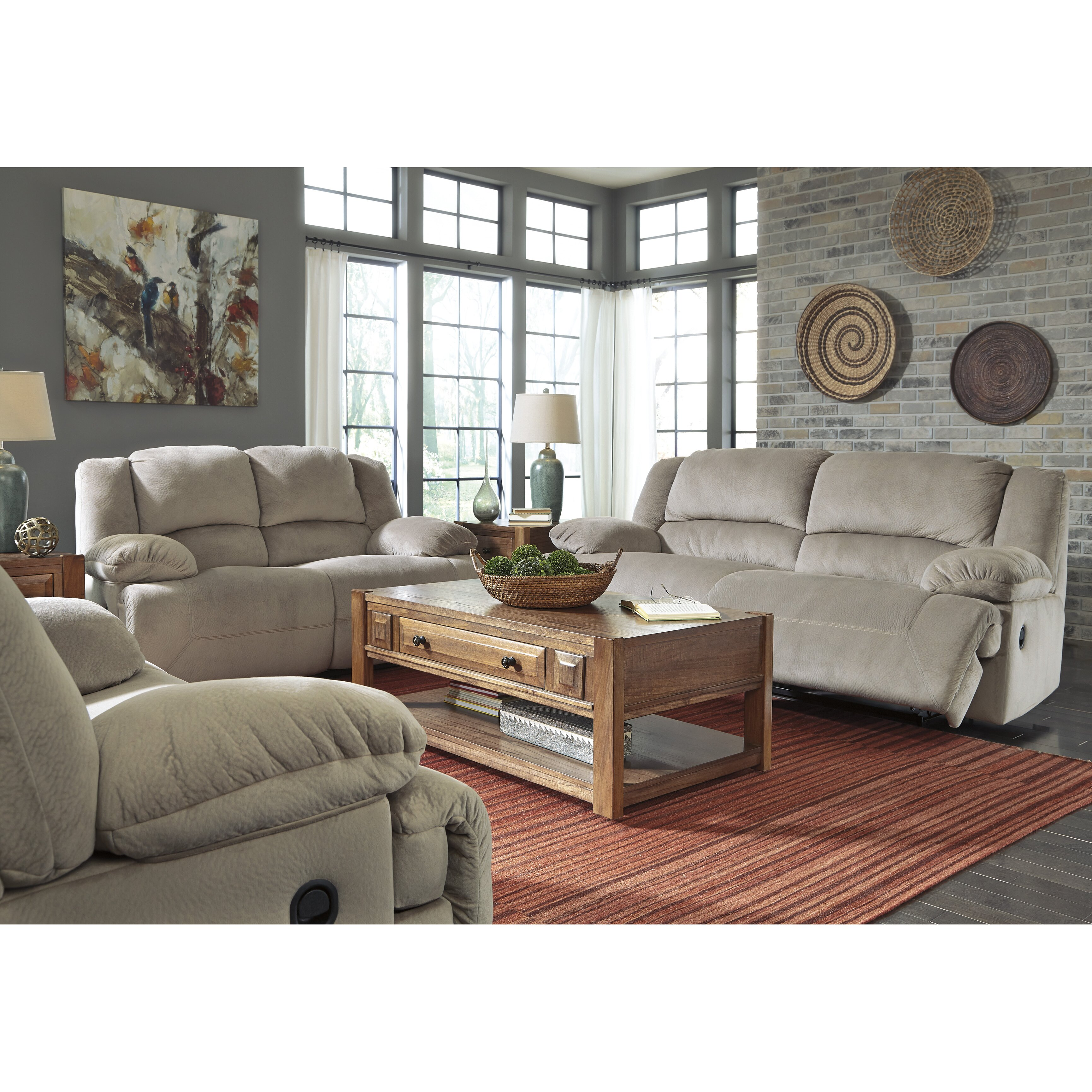 Signature Design By Ashley Tolette 2 Seat Reclining Sofa