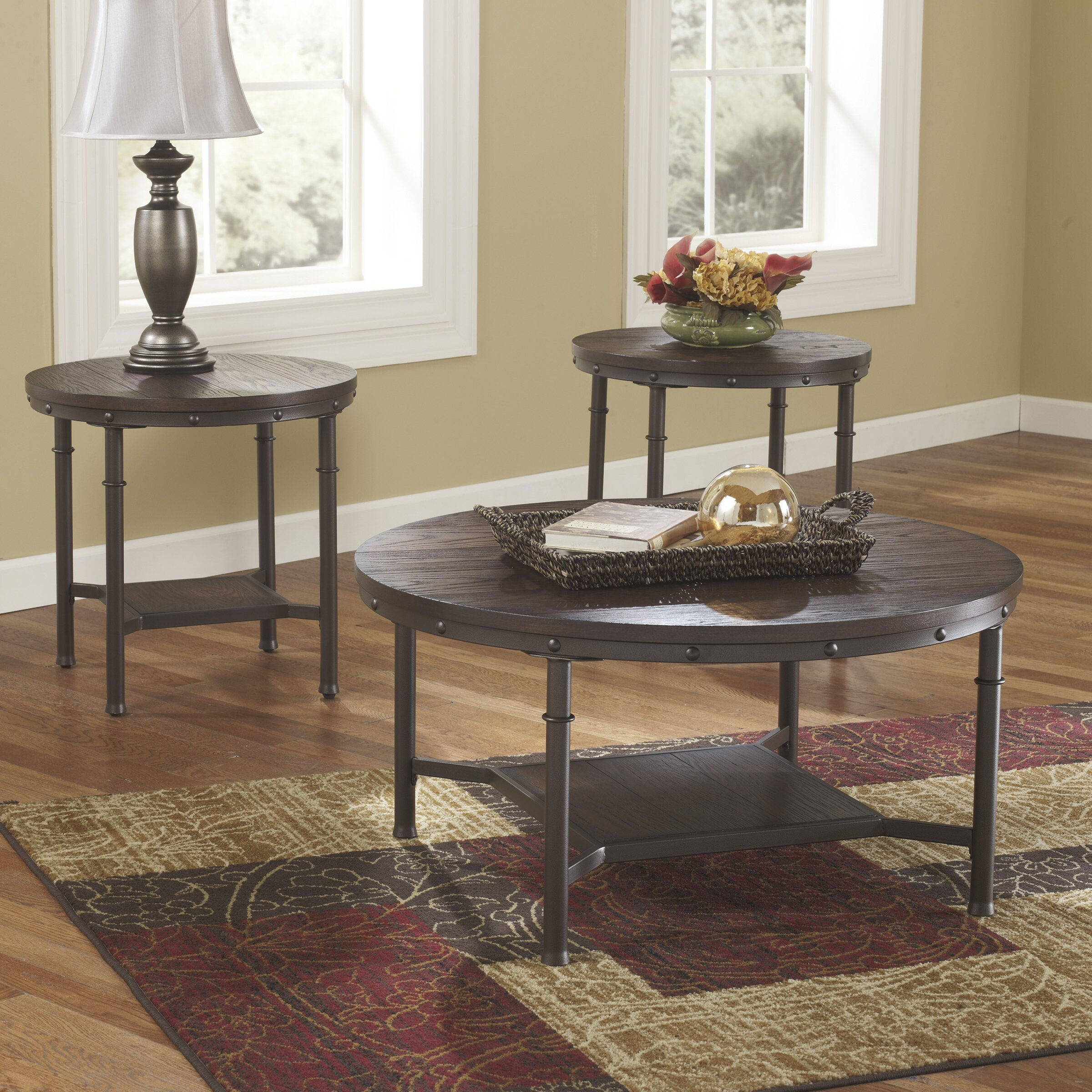 signature design by ashley susan 3 piece coffee table set