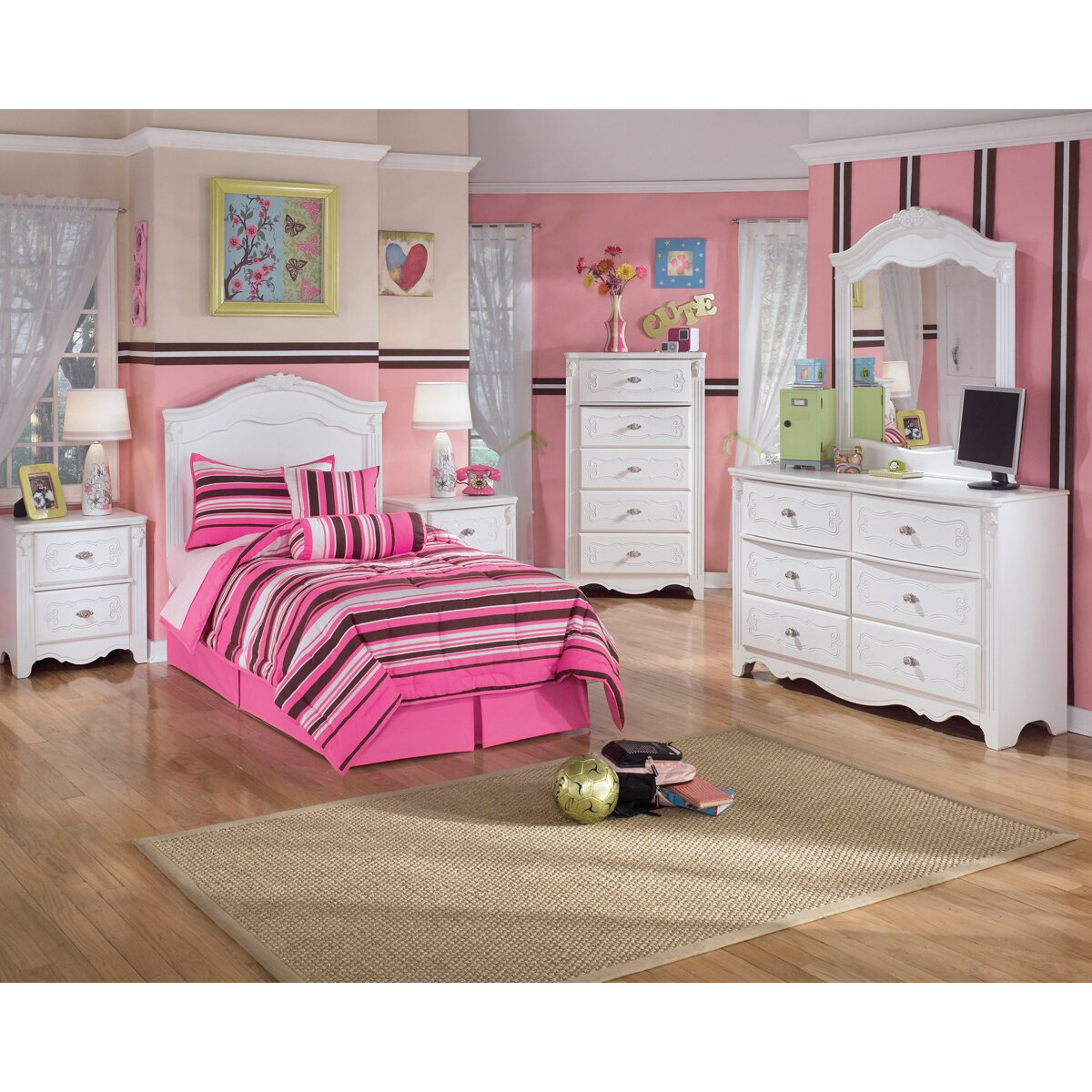 Signature design by ashley lydia panel customizable for Signature bedroom furniture