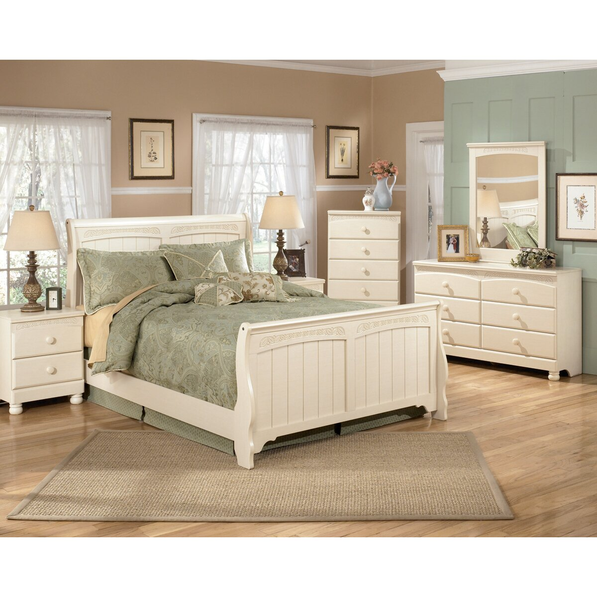 cottage style bedroom furniture signature design by cottage retreat 5 drawer chest 15028