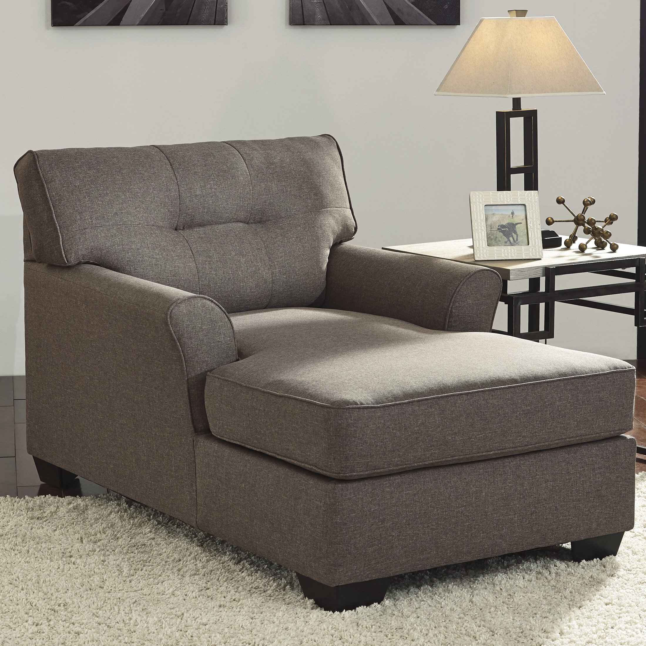 Signature design by ashley tibbee chaise lounge reviews for Chaise furniture