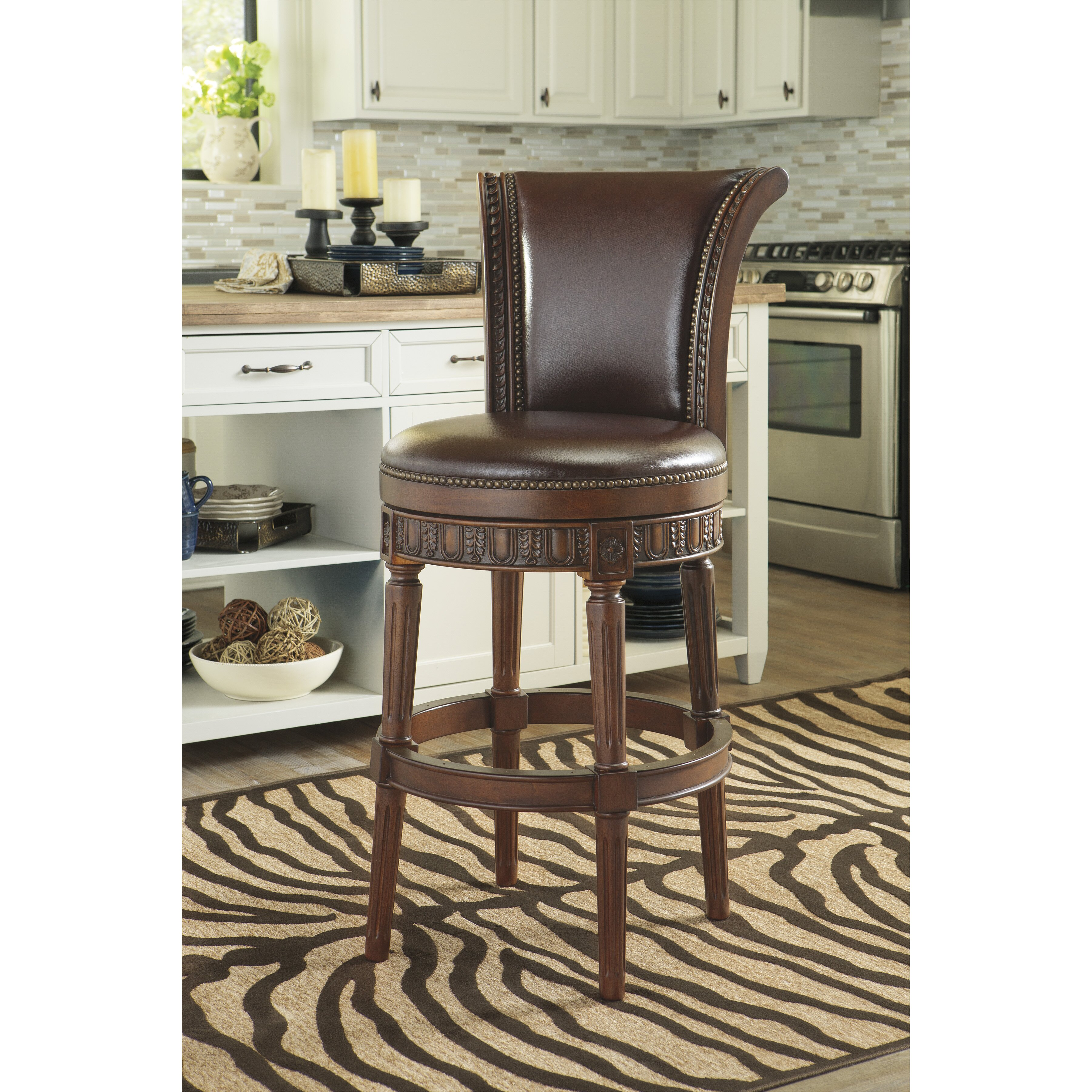 Signature Design By Ashley 31 Quot Swivel Bar Stool Amp Reviews