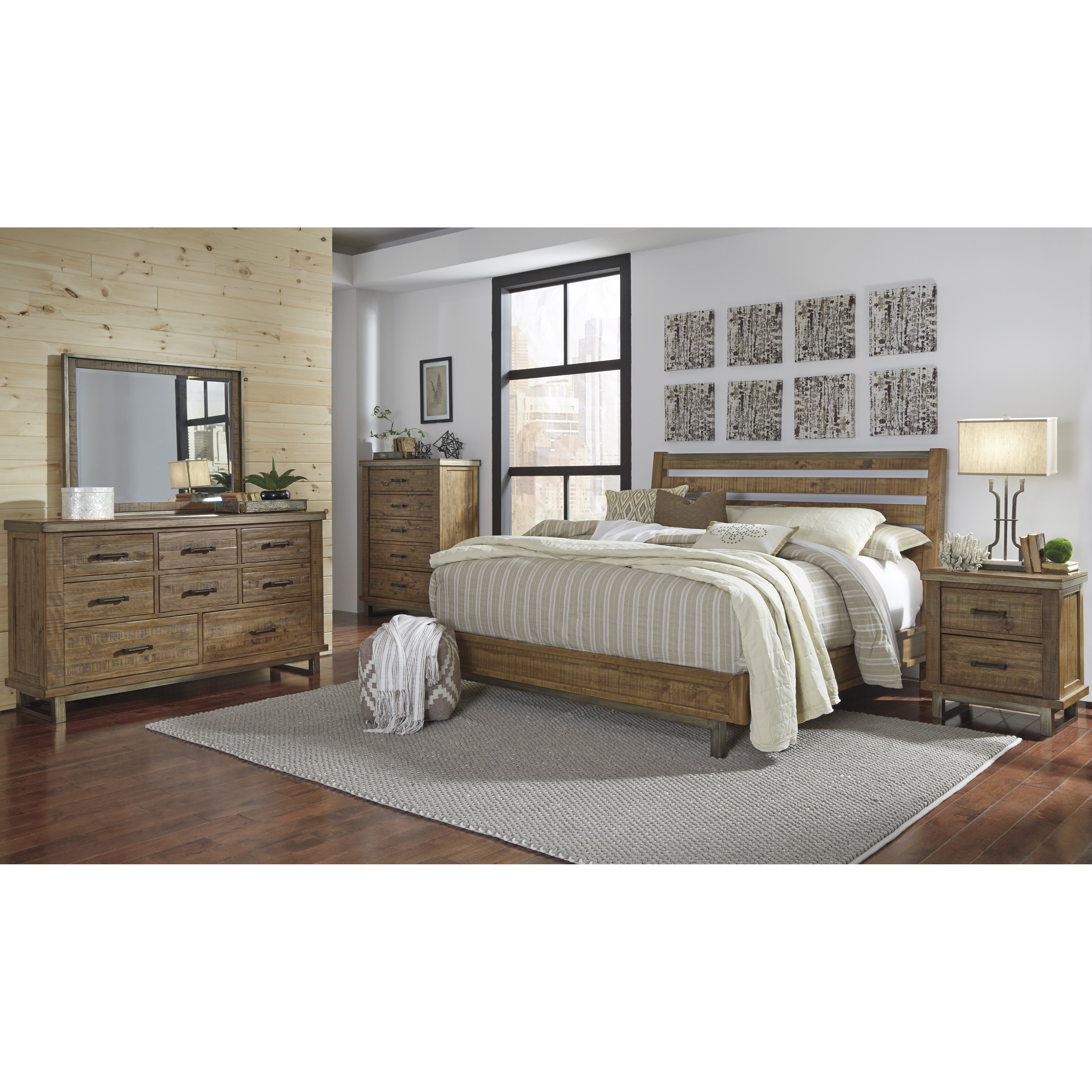 Signature design by ashley dondie queen platform for Signature bedroom furniture