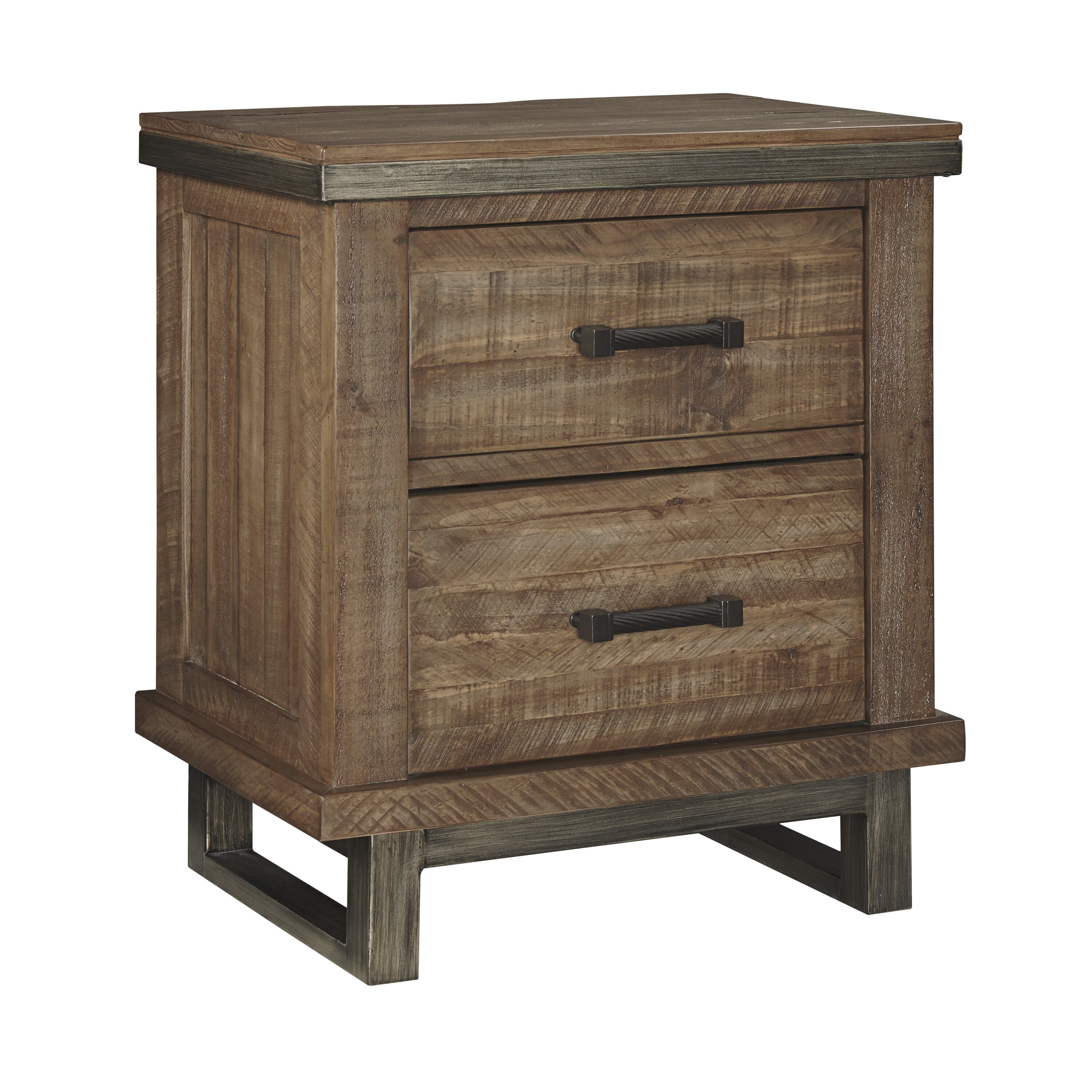 signature design by ashley dondie 2 drawer nightstand. Black Bedroom Furniture Sets. Home Design Ideas